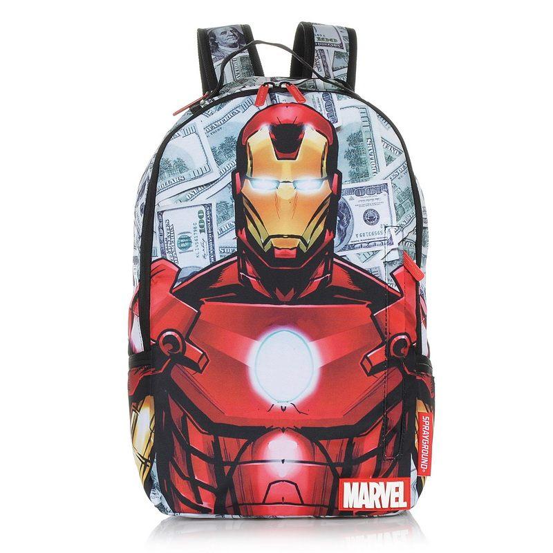 Σακίδιο Πλάτης Sprayground Iron Man Raining Money B666 ανδρας   σακίδιο πλάτης