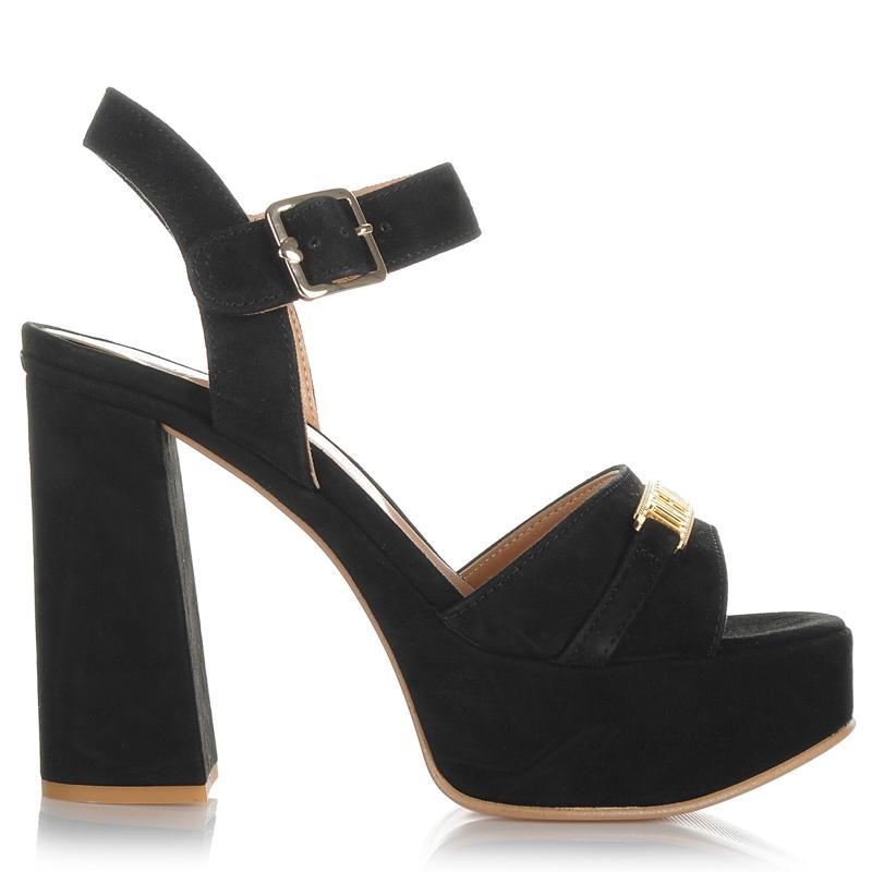 Suede Δερμάτινα Πέδιλα Love Moschino JC1608 γυναικα   γυναικείο παπούτσι