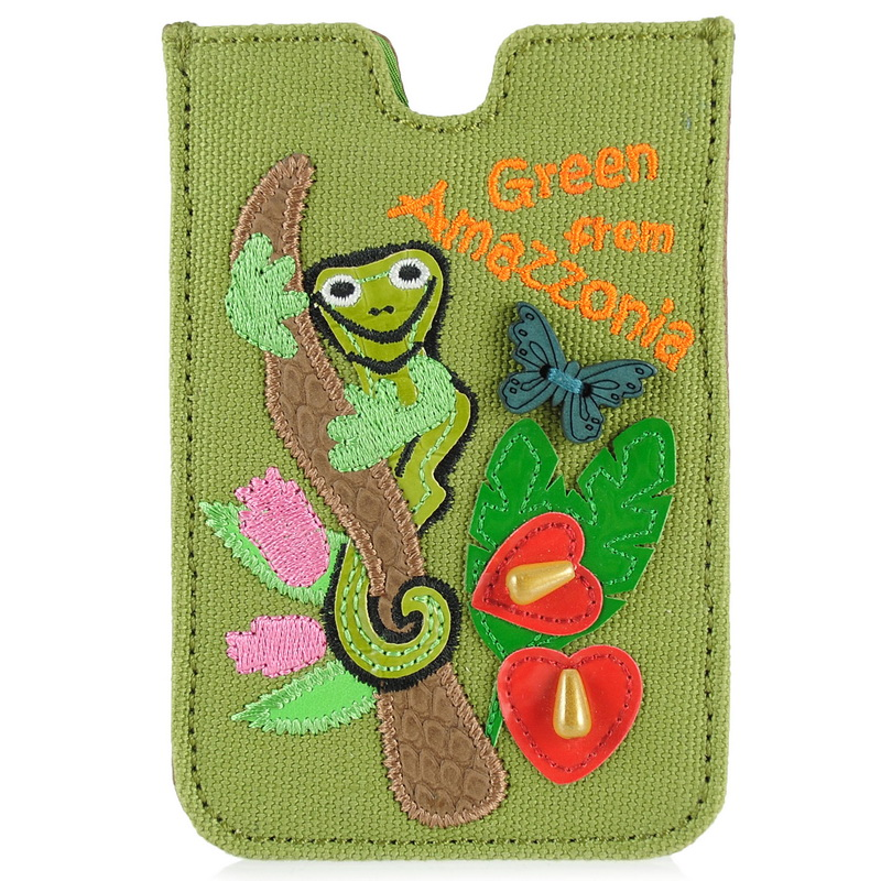 "Θήκη iPhone Tua by Braccialini Cartoline""Green from Amazonia"" αξεσουαρ   θήκη τηλεφώνου"