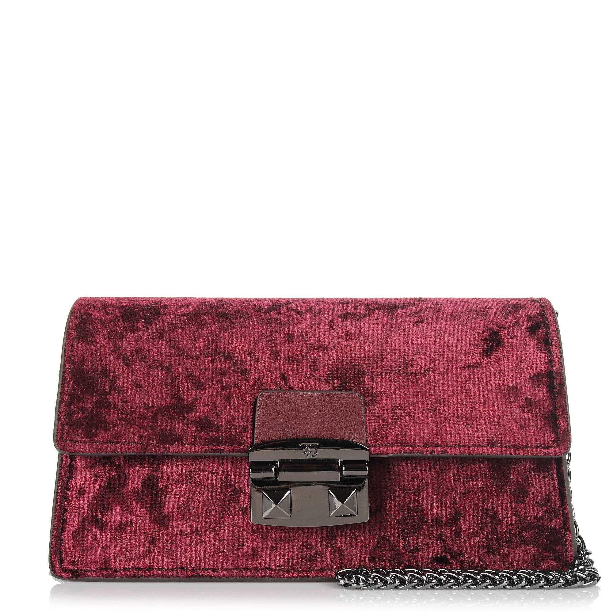 Αμπιγιέ Τσαντάκι Trussardi Jeans Coriandolo Mini Bag Ecoleather/Velvet 75B00554 γυναικα   αμπιγιέ