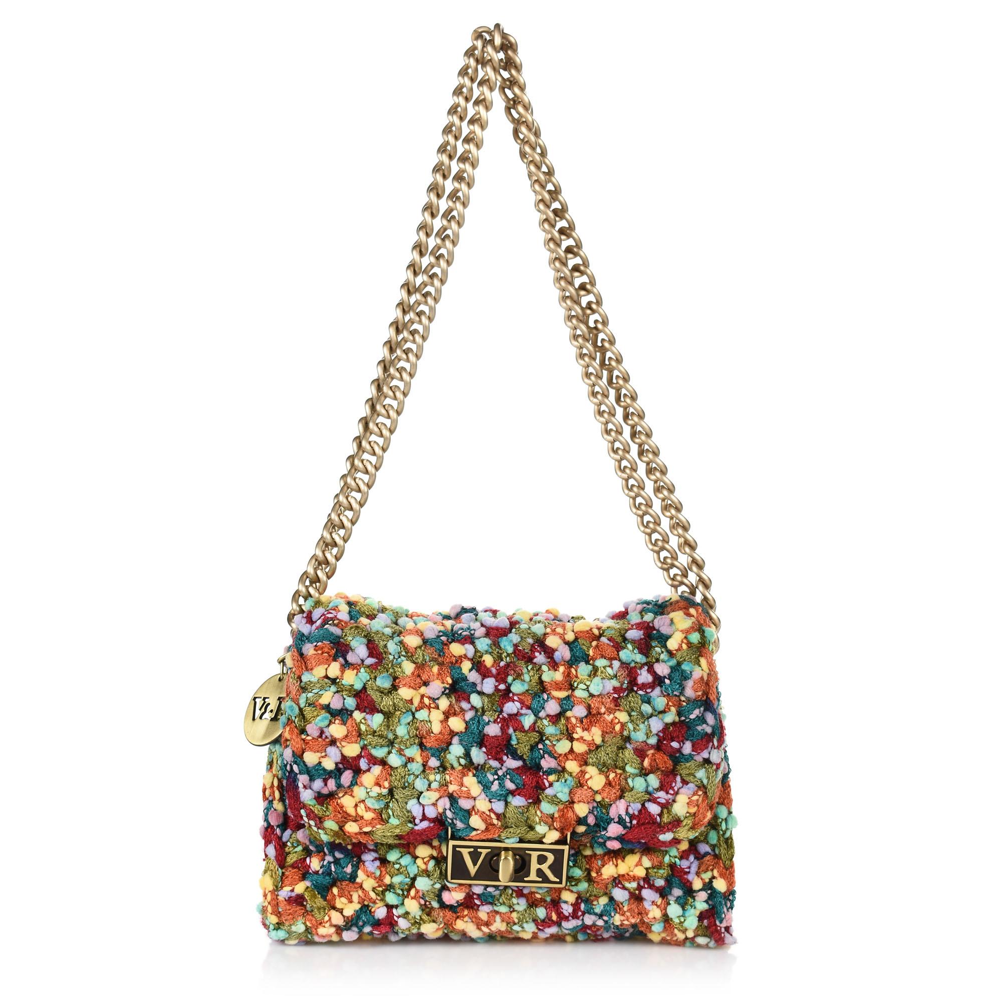 d5a64a1553 Brand Bags Χειροποίητη Πλεκτή Τσάντα Ώμου-Χιαστί V R RP148