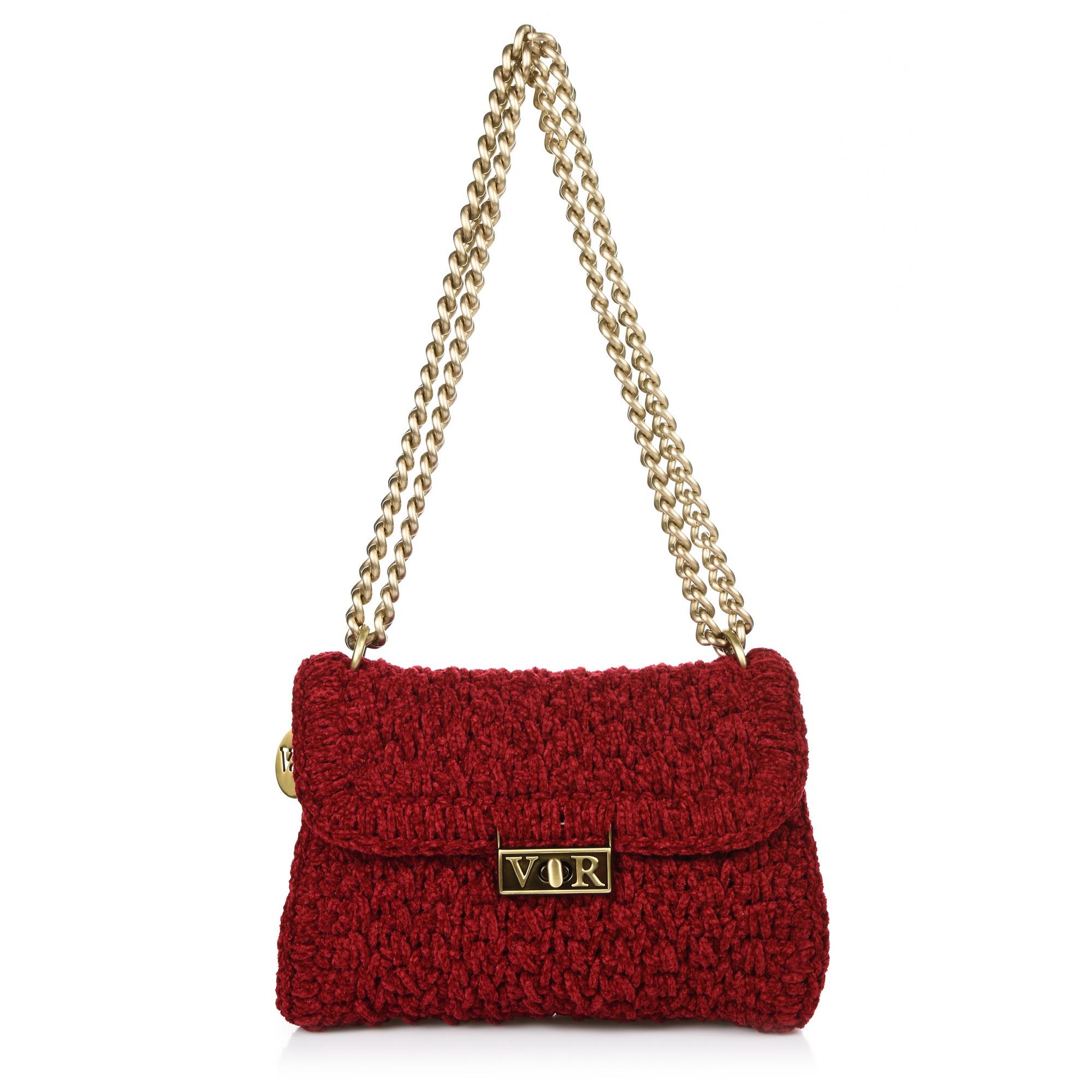 Χειροποίητη Πλεκτή Τσάντα Ώμου-Χιαστί V&R WV1380 γυναικα   γυναικεία τσάντα