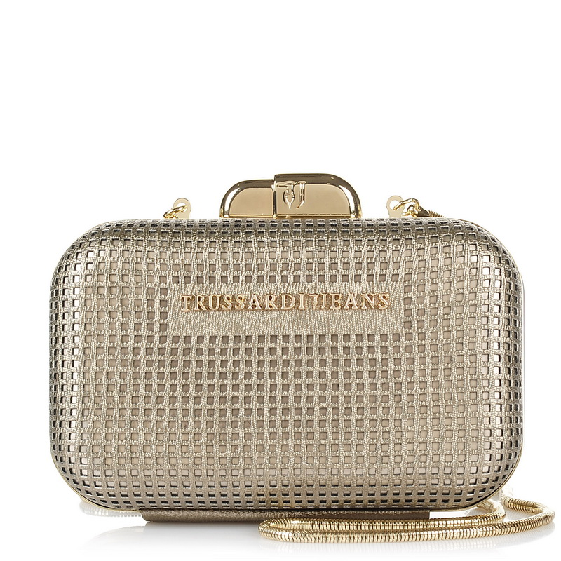 Clutch Trussardi Jeans Red Carpet Ecoleather Net Miniaudiere Bag 75B208