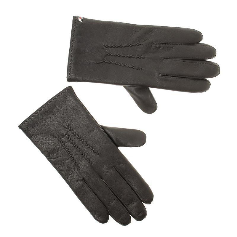 Δερμάτινα Ανδρικά Γάντια Tommy Hilfiger Bsic Leather Gloves ΑΜ02508 ανδρας   αντρικό γάντι