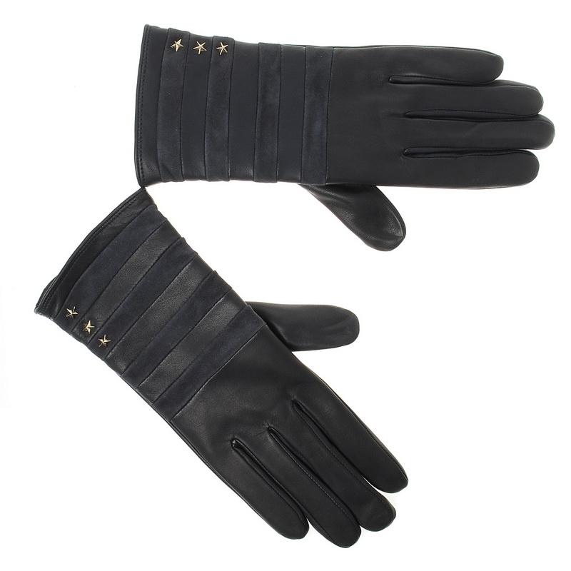 Δερμάτινα Γυναικεία Γάντια Tommy Hilfiger Stripy Leather Gloves AW04394 γυναικα   γυναικείο γάντι