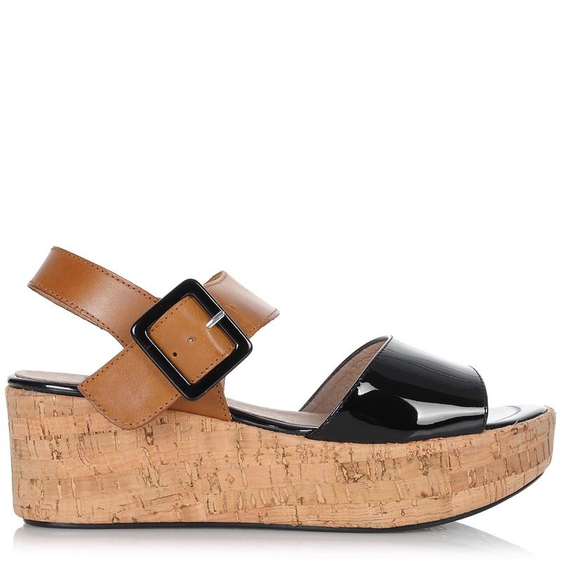 Δερμάτινα Σανδάλια Wonders B-6312 γυναικα   γυναικείο παπούτσι