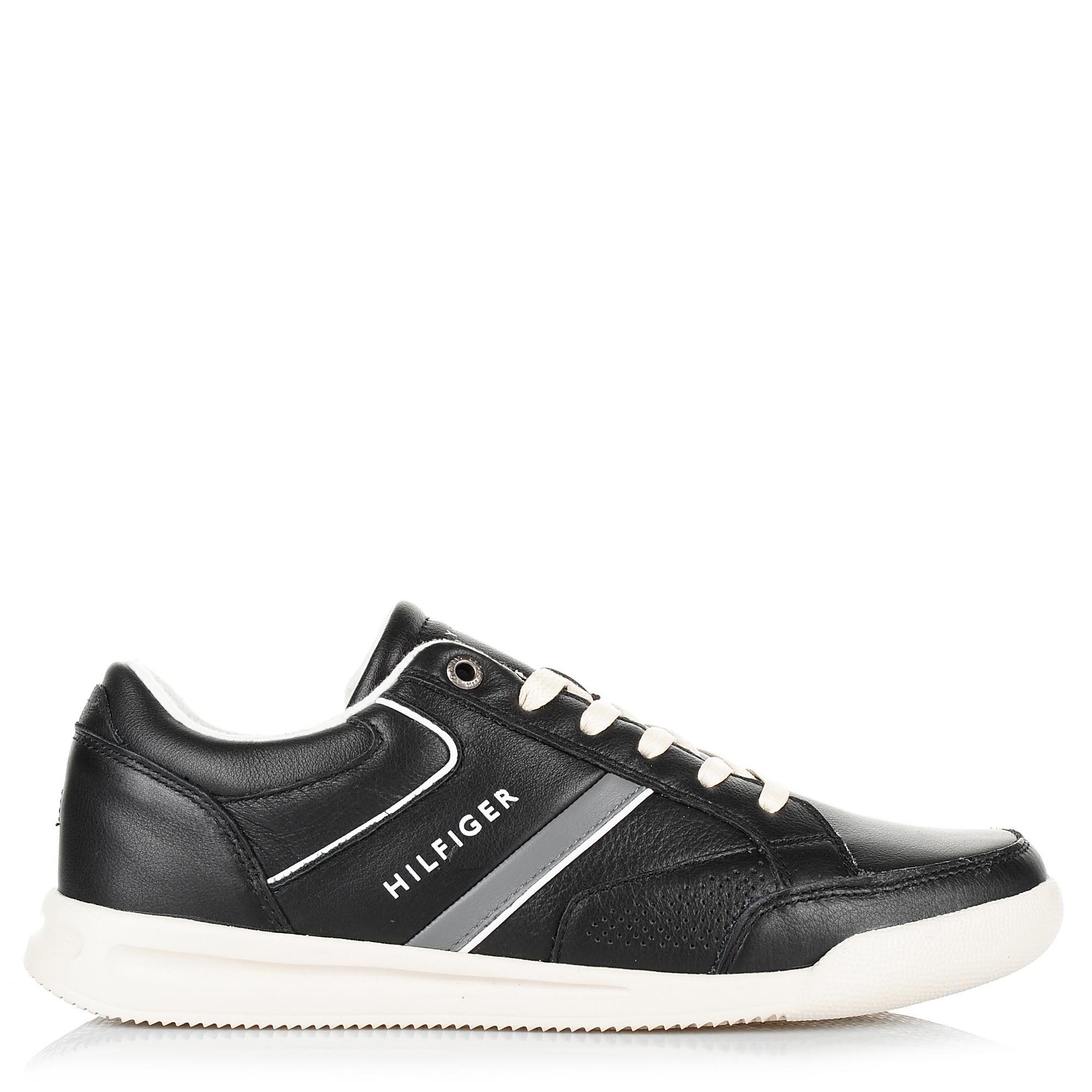 Δερμάτινα Sneakers Tommy Hilfiger Corporate Detail Leather Sneaker FM0FM01620 ανδρας   ανδρικό παπούτσι