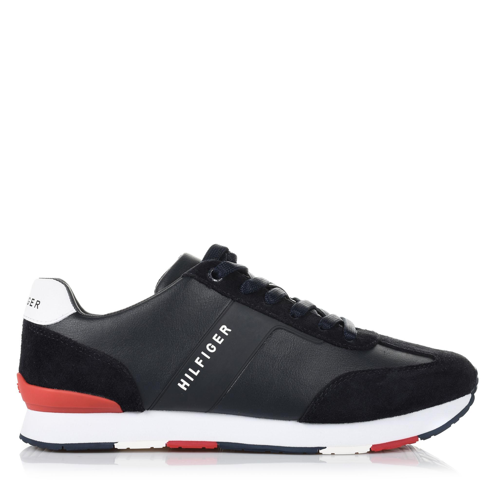 Δερμάτινα Sneakers Tommy Hilfiger Mix Runner FM0FM02142 ανδρας   ανδρικό παπούτσι
