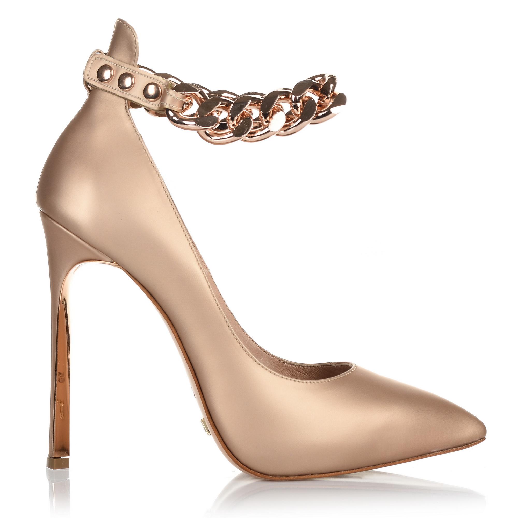 Δερμάτινες Γόβες Dukas Twist Pump Chain 1. DTPC γυναικα   γυναικείο παπούτσι