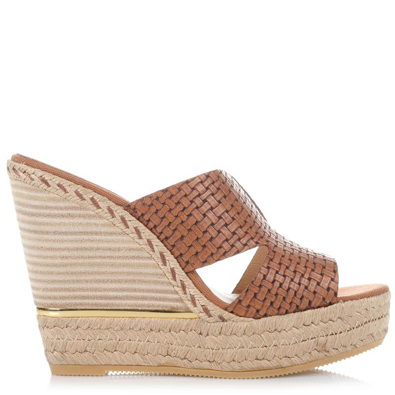 Δερμάτινες Πλατφόρμες Mules Kanna KV7121 γυναικα   γυναικείο παπούτσι