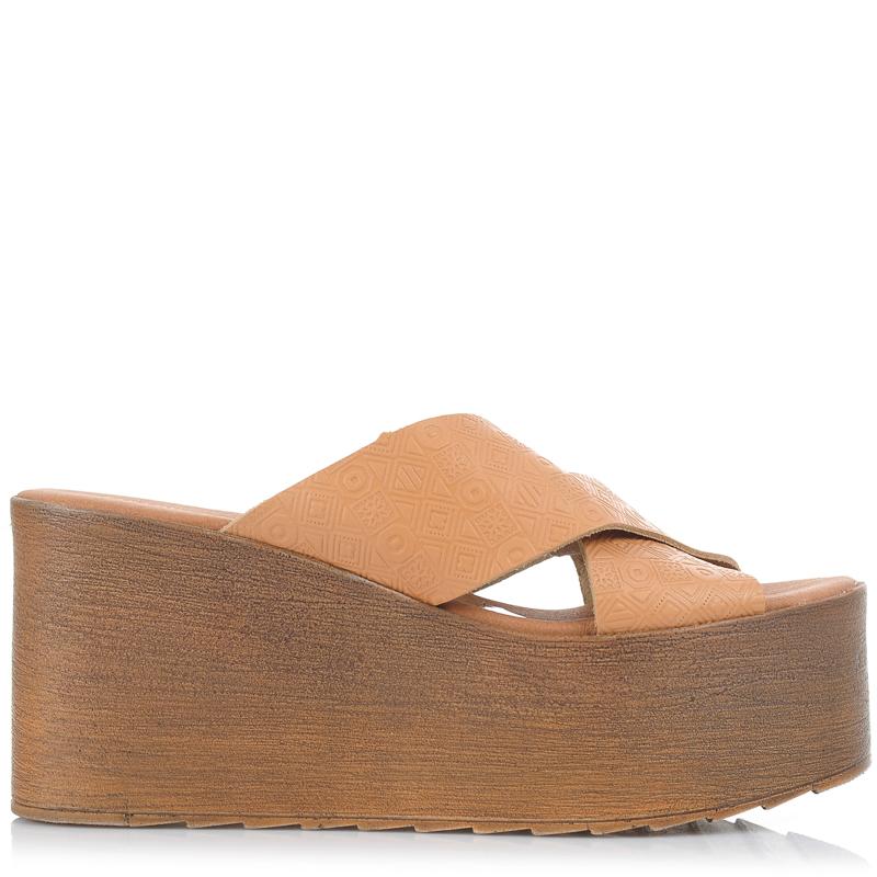 Δερμάτινες Πλατφόρμες Mules Mariella Fabiani 203064 γυναικα   γυναικείο παπούτσι