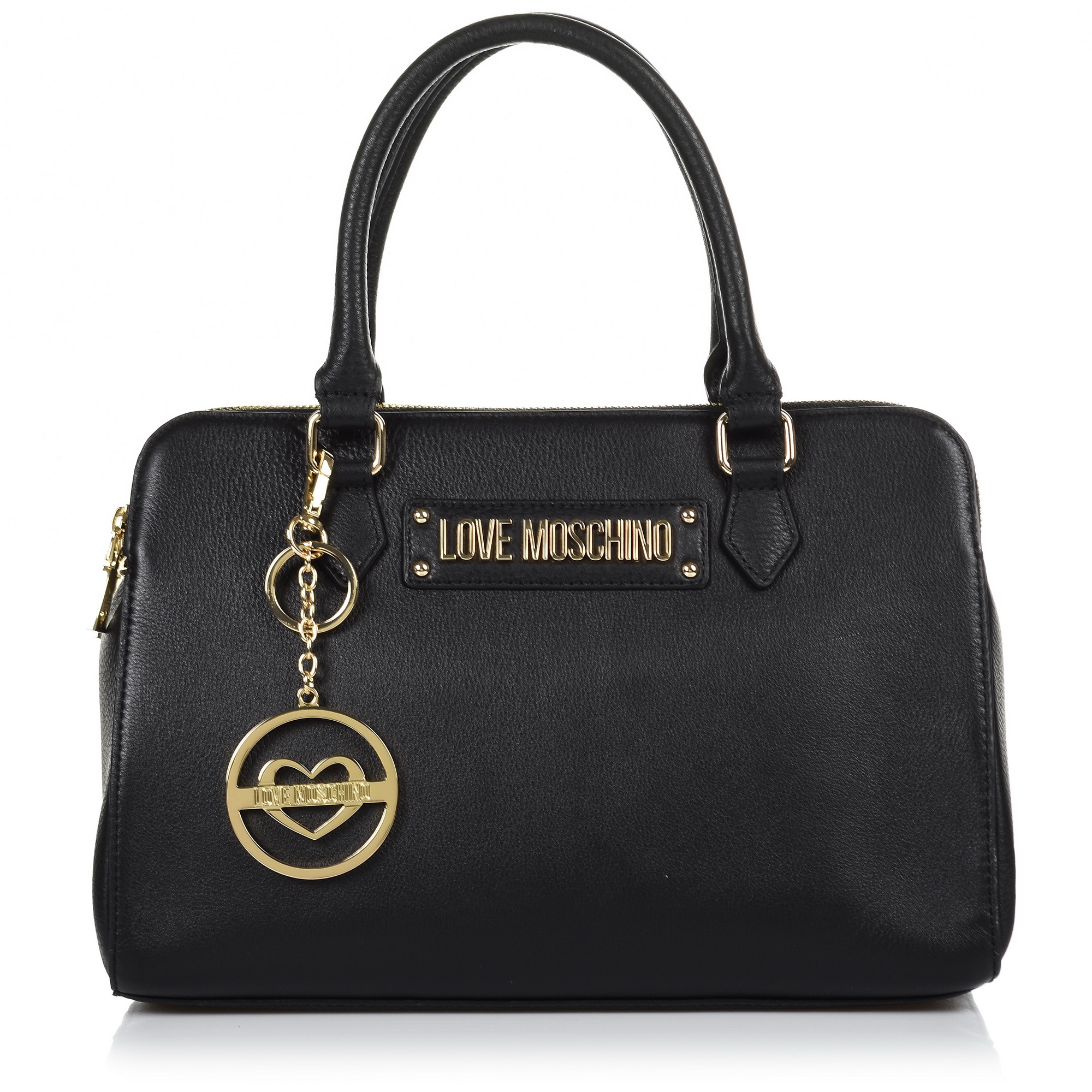 Δερμάτινη Tote Τσάντα Love Moschino Borsa Vitello Pebble Grain JC4347PP06K1