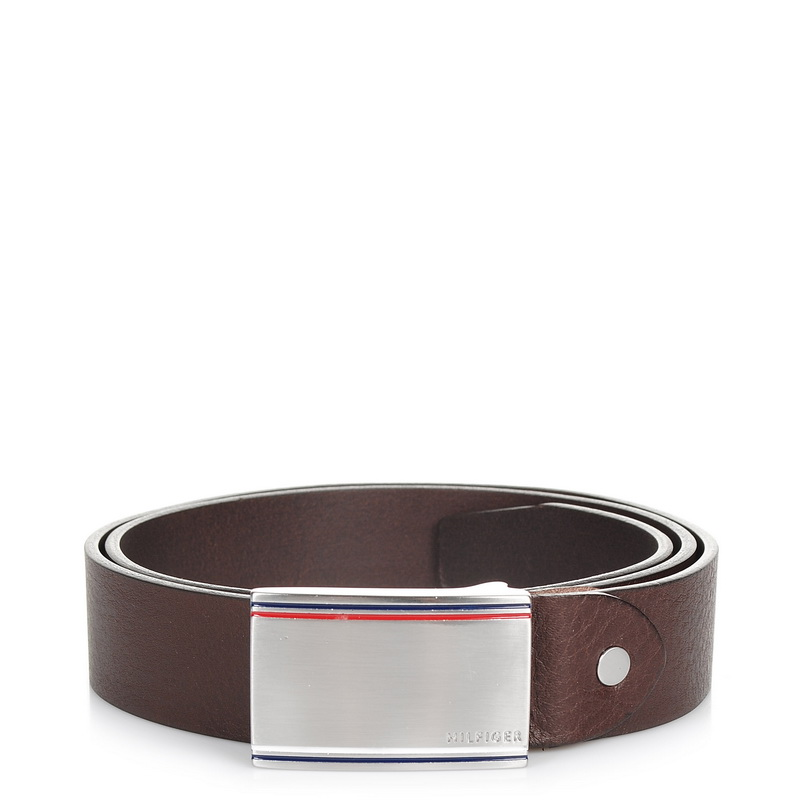 Δερμάτινη Ζώνη Tommy Hilfiger Corporate Plawue Belt 3.5 Cm Adj AM02793