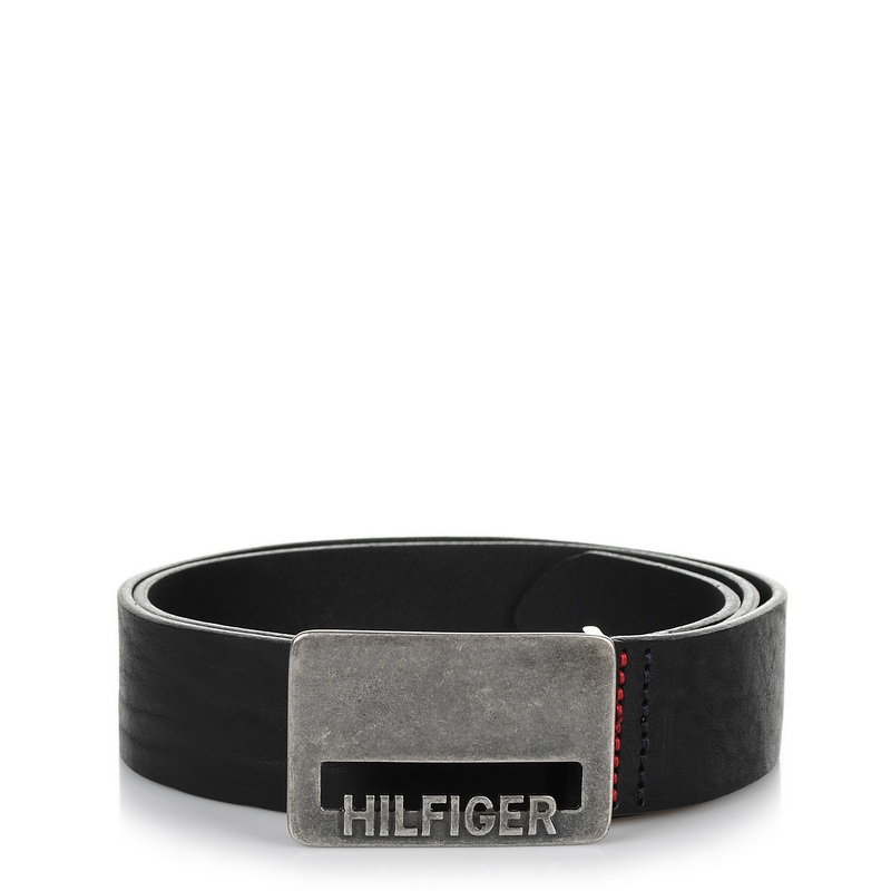 Δερμάτινη Ζώνη Tommy Hilfiger THD Cut Plaque Belt 4 Cm AM02791