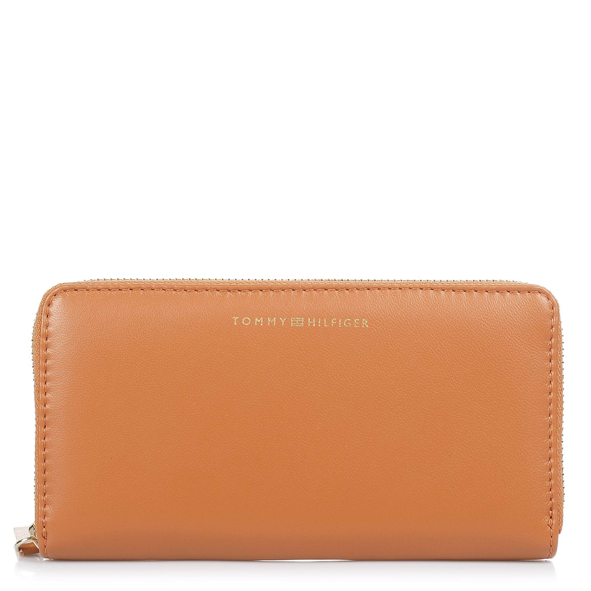 Δερμάτινο Πορτοφόλι Κασετίνα Tommy Hilfiger Smooth Leather Zip Around Wallet AW0AW05138