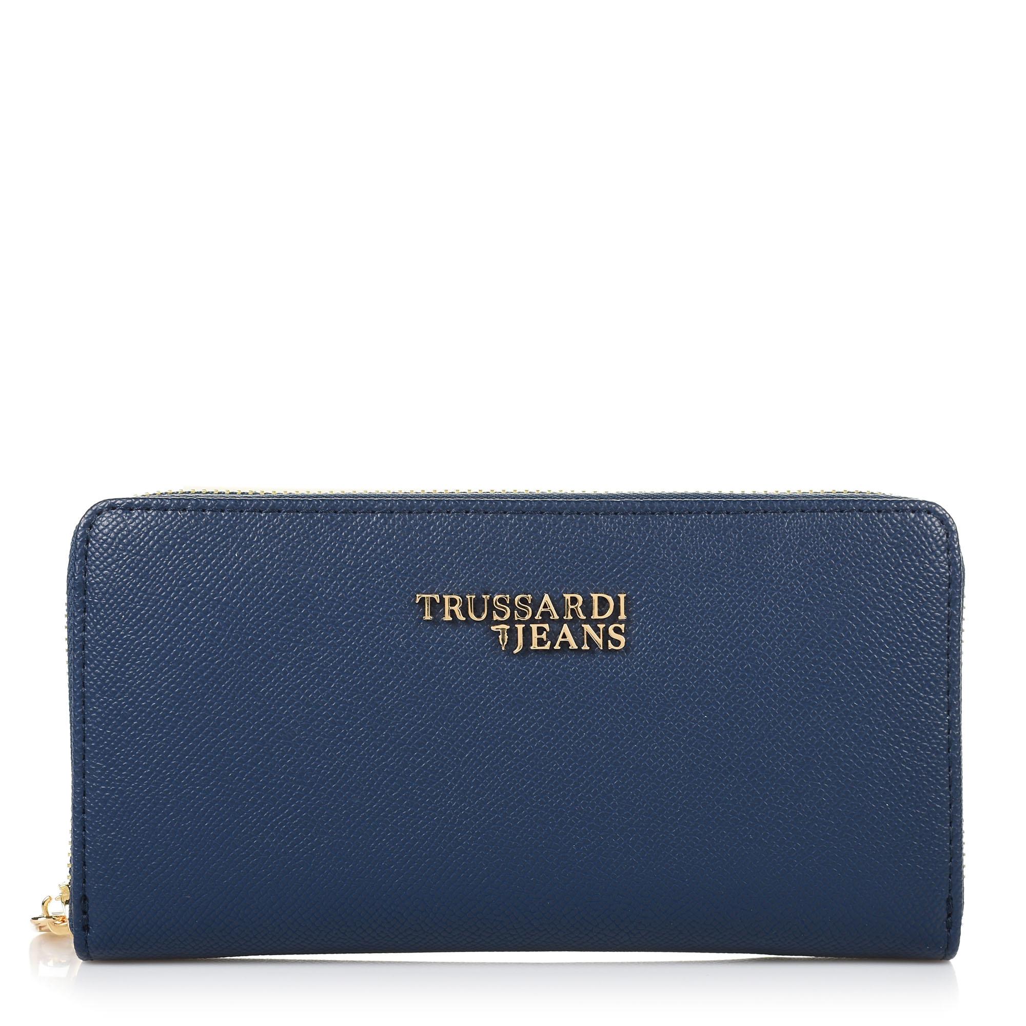 Δερμάτινο Πορτοφόλι Κασετίνα Trussardi Jeans T Easy Light 3 Pocket LG Saffiano 75W00152