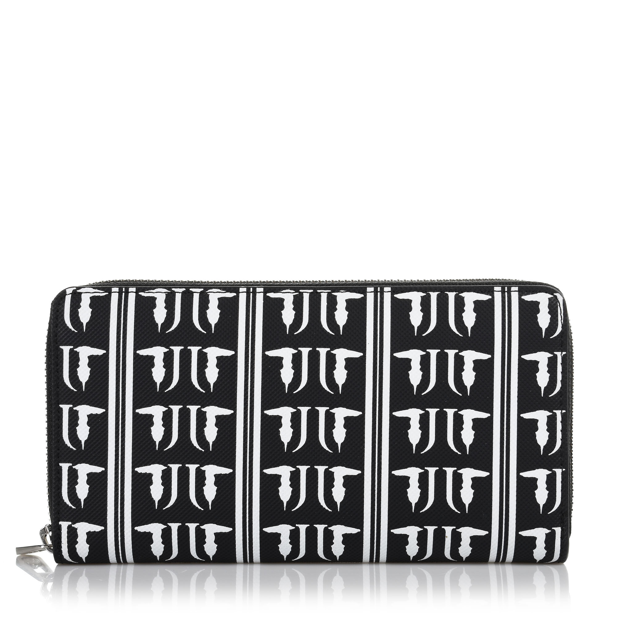 Δερμάτινο Πορτοφόλι Κασετίνα Trussardi Jeans T-Easy Monogram Zip 3 Pocket 75W001 γυναικα   γυναικείο πορτοφόλι