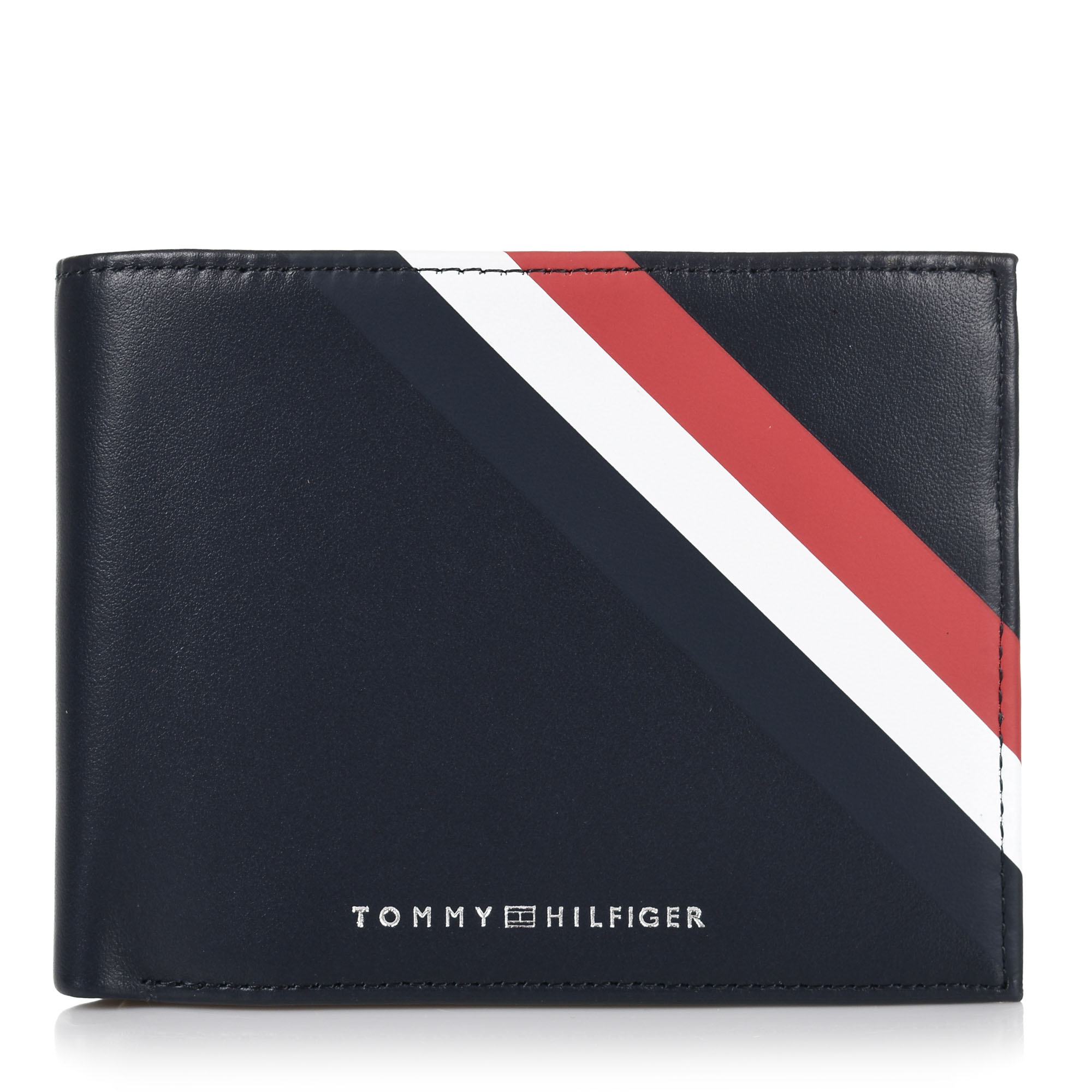 04a1d54bc6 Δερμάτινο Πορτοφόλι Tommy Hilfiger Bold Corporate CC Flap And Coin  AM0AM04535