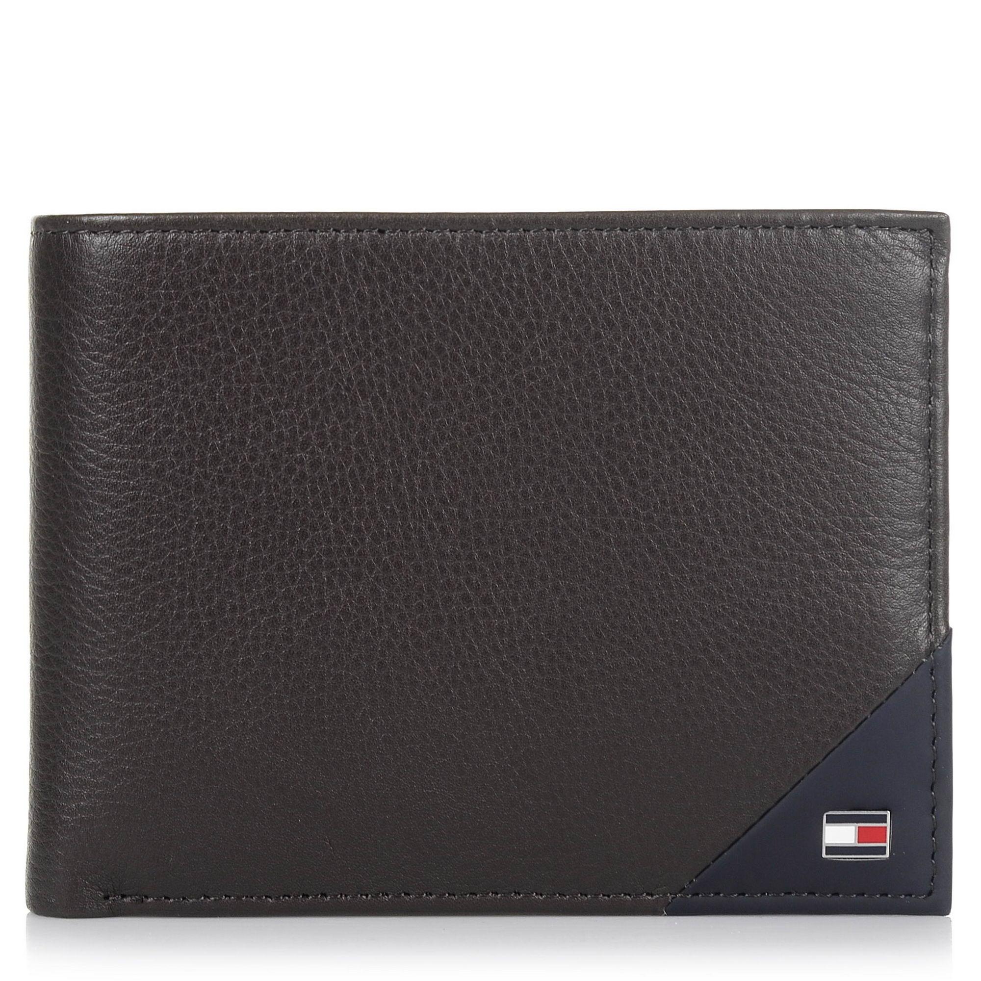 Δερμάτινο Πορτοφόλι Tommy Hilfiger Diagonal Extra CC & Coin Pocket AM0AM02857 ανδρας   ανδρικό πορτοφόλι