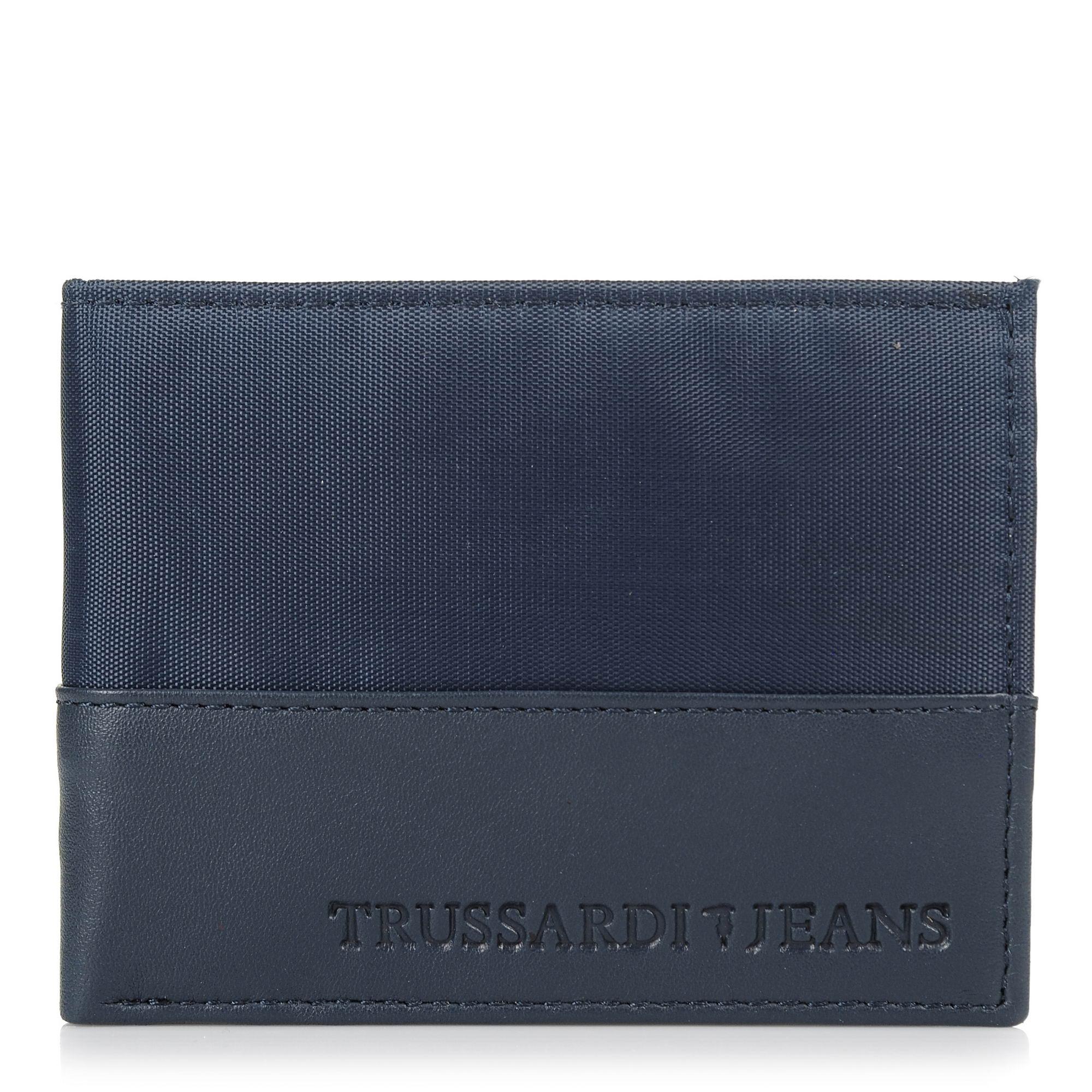 Δερμάτινο Πορτοφόλι Trussardi Jeans Wallet Credit Card Coin Pocket 71W00004 ανδρας   ανδρικό πορτοφόλι