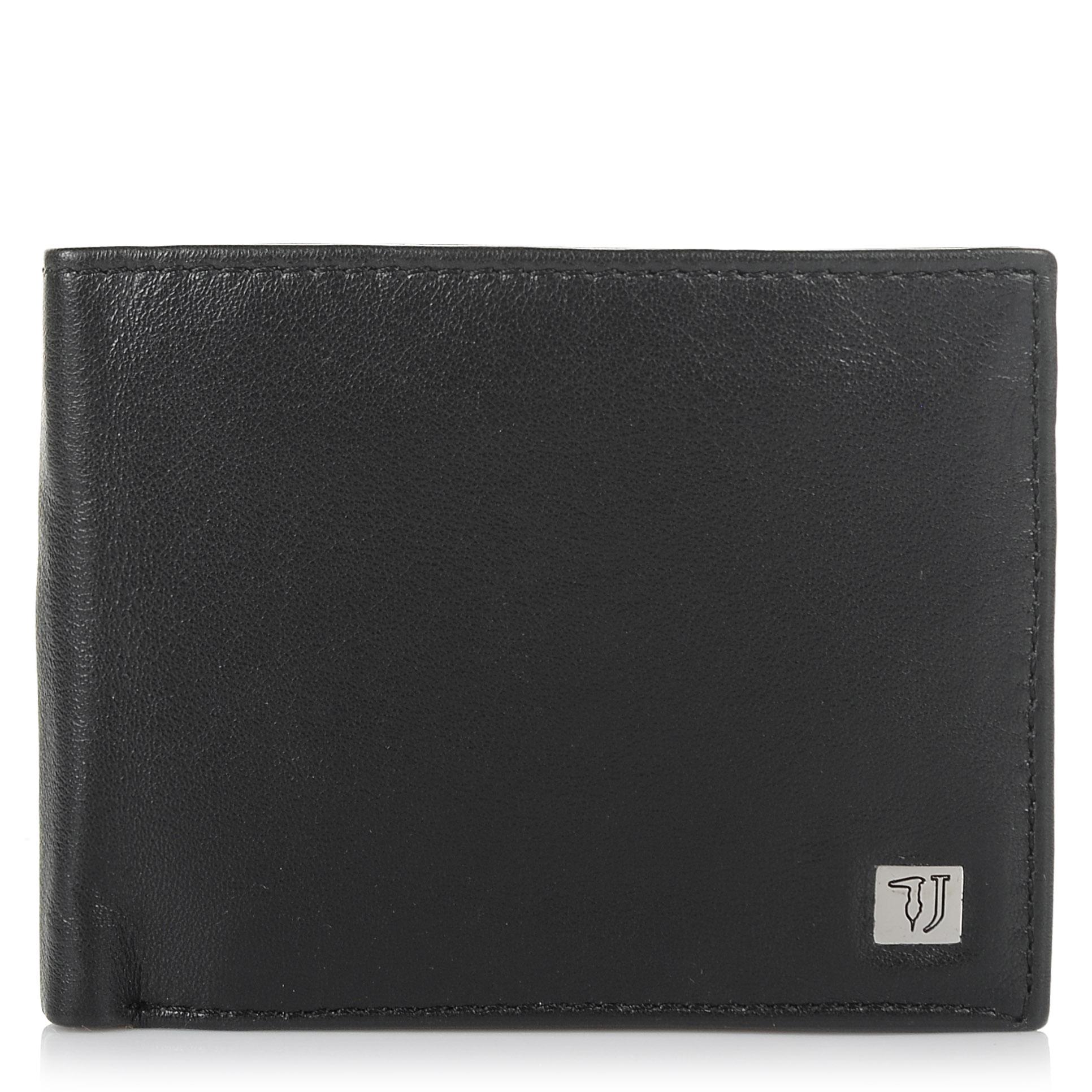 Δερμάτινο Πορτοφόλι Trussardi Jeans Wallet Credit Card Coin Pocket Smooth 71W000 ανδρας   ανδρικό πορτοφόλι