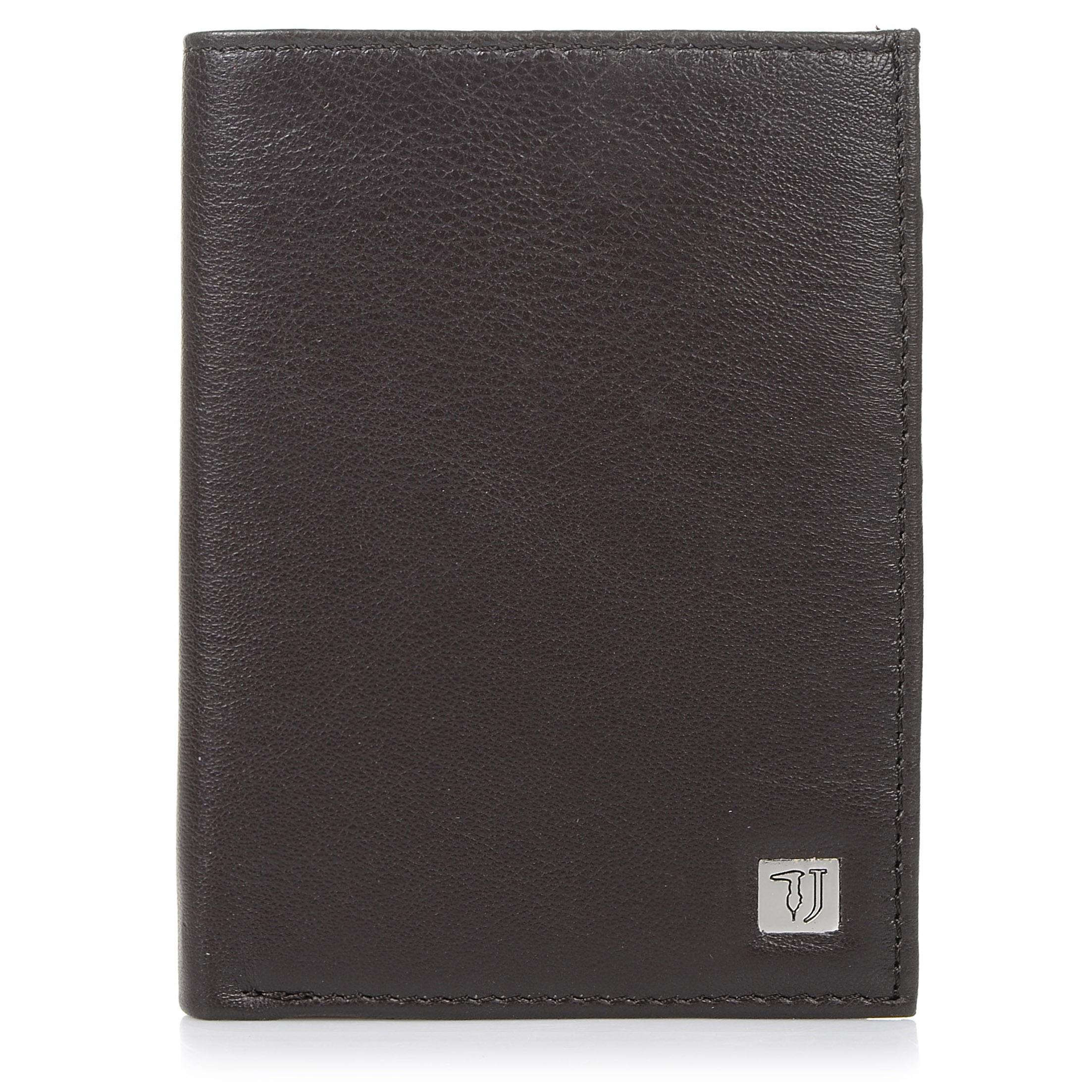 Δερμάτινο Πορτοφόλι Trussardi Jeans Wallet Vertical Coin Pocket Smooth 71W00002 ανδρας   ανδρικό πορτοφόλι