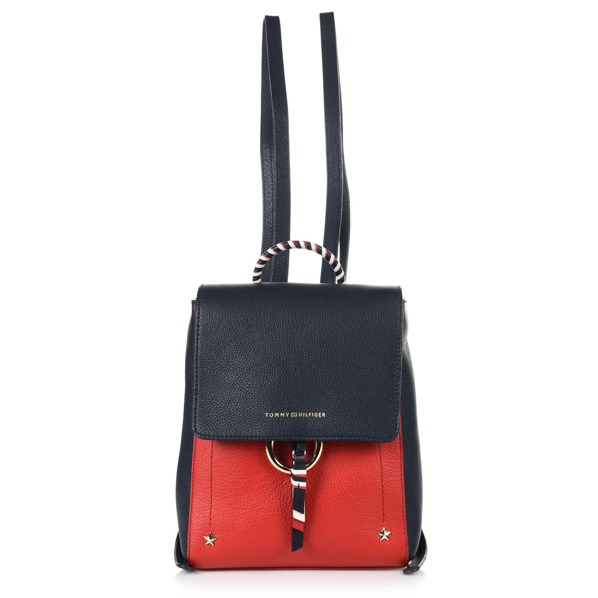Δερμάτινο Σακίδιο Πλάτης Tommy Hilfiger Heritage Leather Backpack AW0AW06250 γυναικα   γυναικεία τσάντα