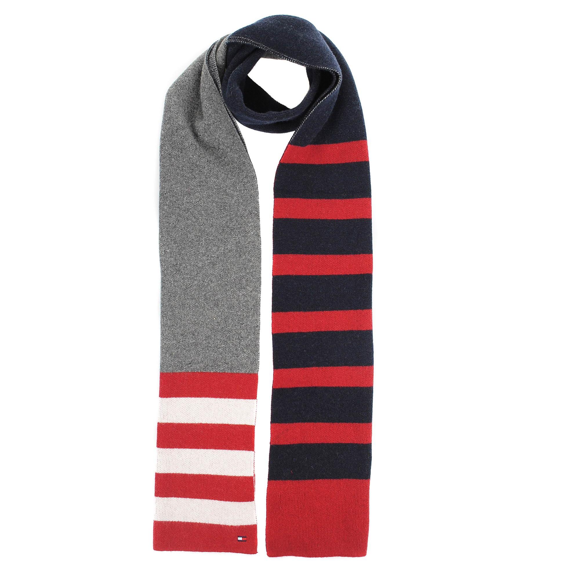 Κασκόλ Tommy Hilfiger Seasonal Stripe Scar AM0AM04036 γυναικα   κασκόλ