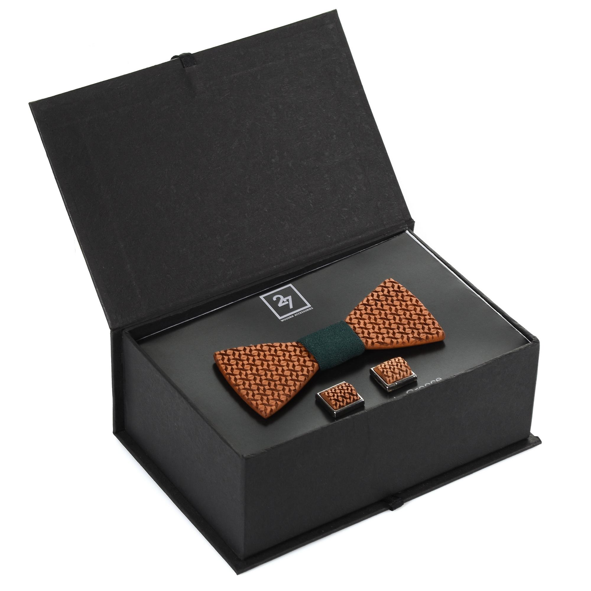 Σετ Δώρου Παπιγιόν-Μανικετόκουμπα 27 Wooden Accessories 018098 ανδρας   παπιγιόν