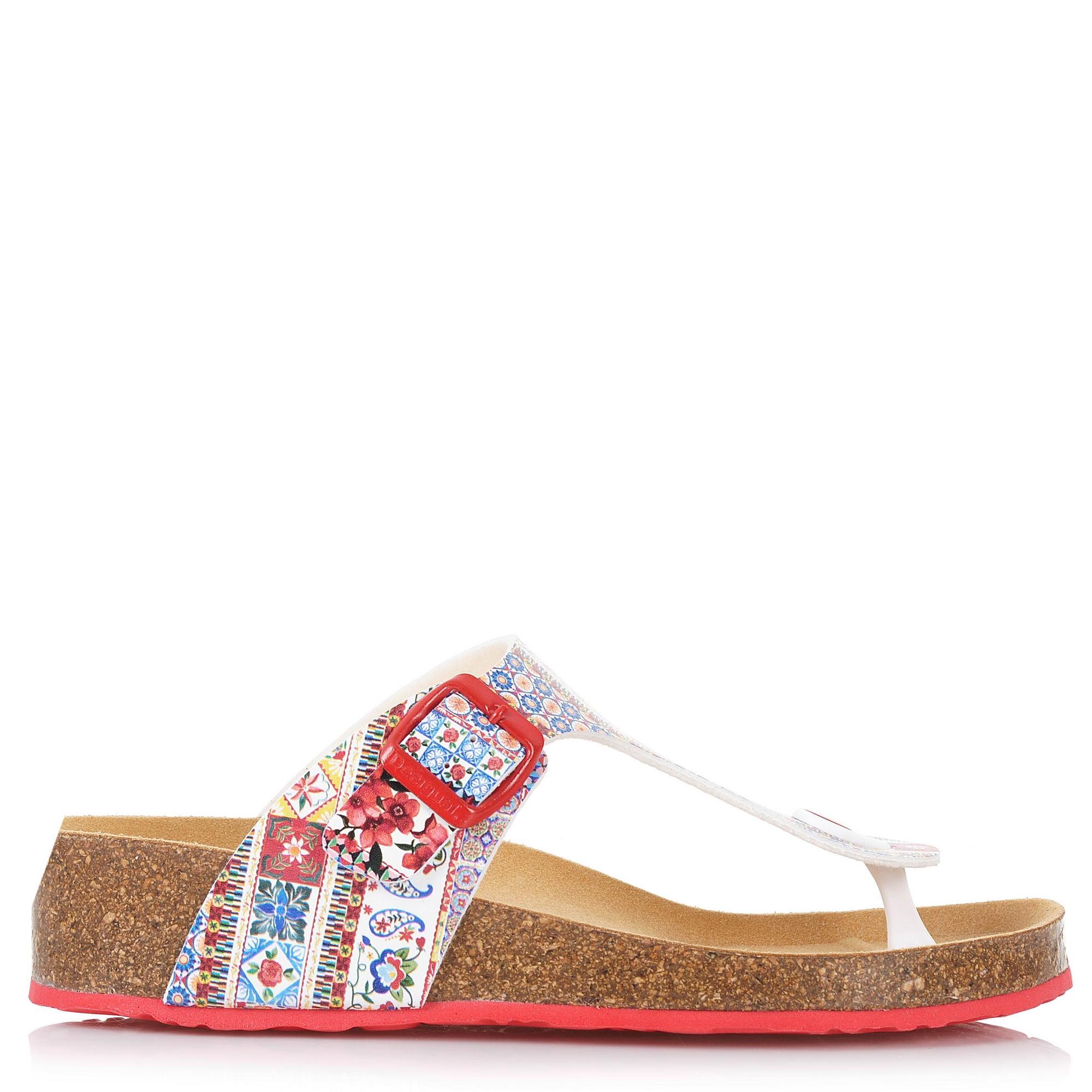Πέδιλα Desigual Shoes Libra Microrapport 18SSHP17 γυναικα   γυναικείο παπούτσι