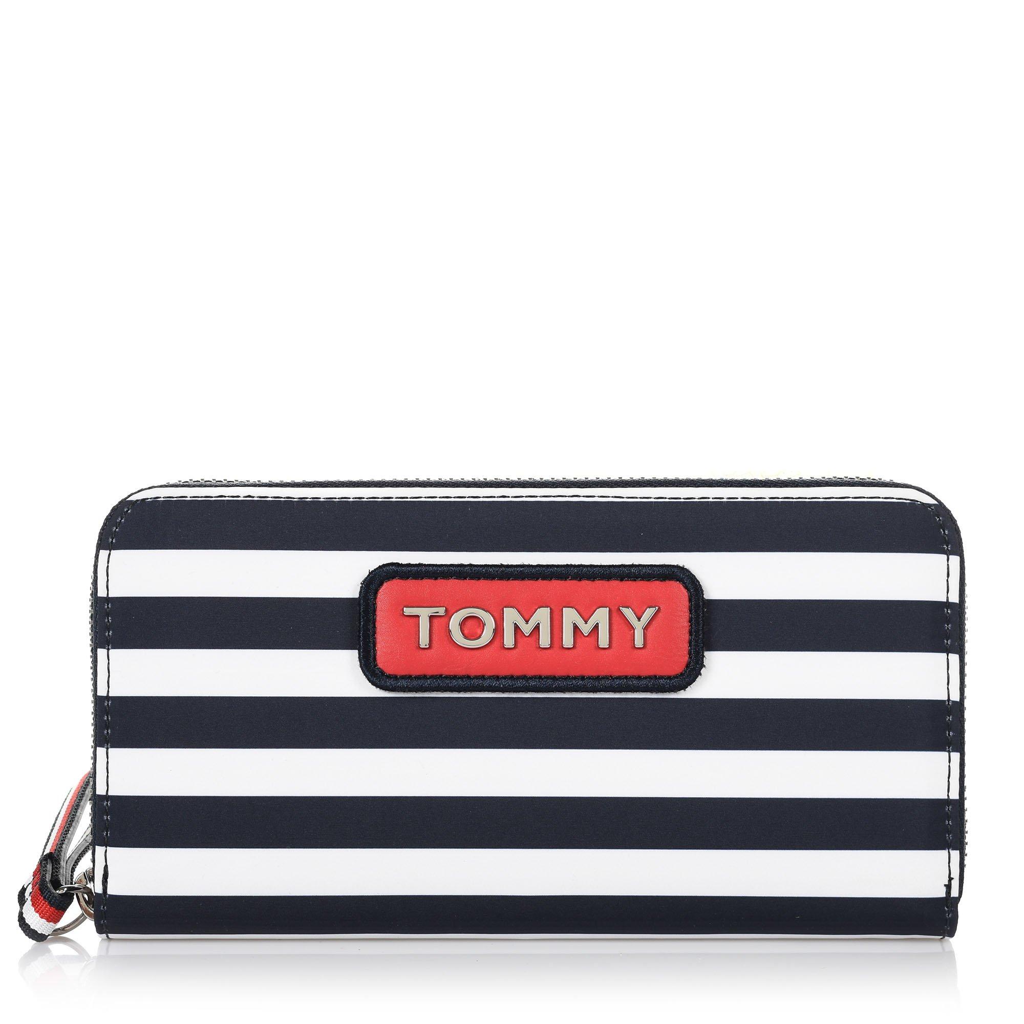 Πορτοφόλι Κασετίνα Tommy Hilfiger Varsity Nylon LRG ZA Stripe AW0AW06268 ff53dfec958