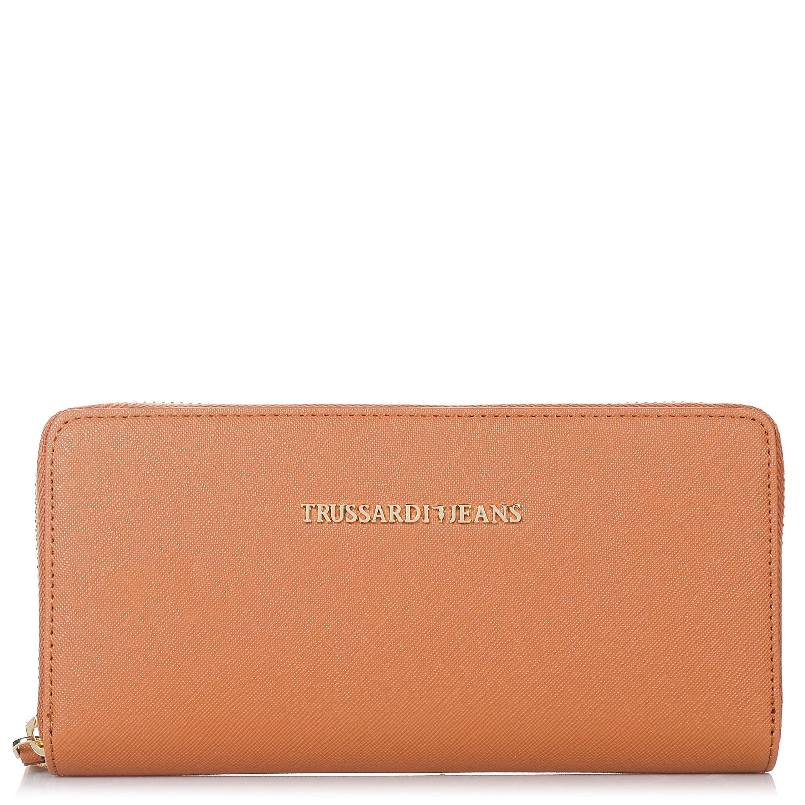 Πορτοφόλι Κασετίνα Trussardi Jeans Levanto Ecosaffiano Wallet Zip Around 75W011