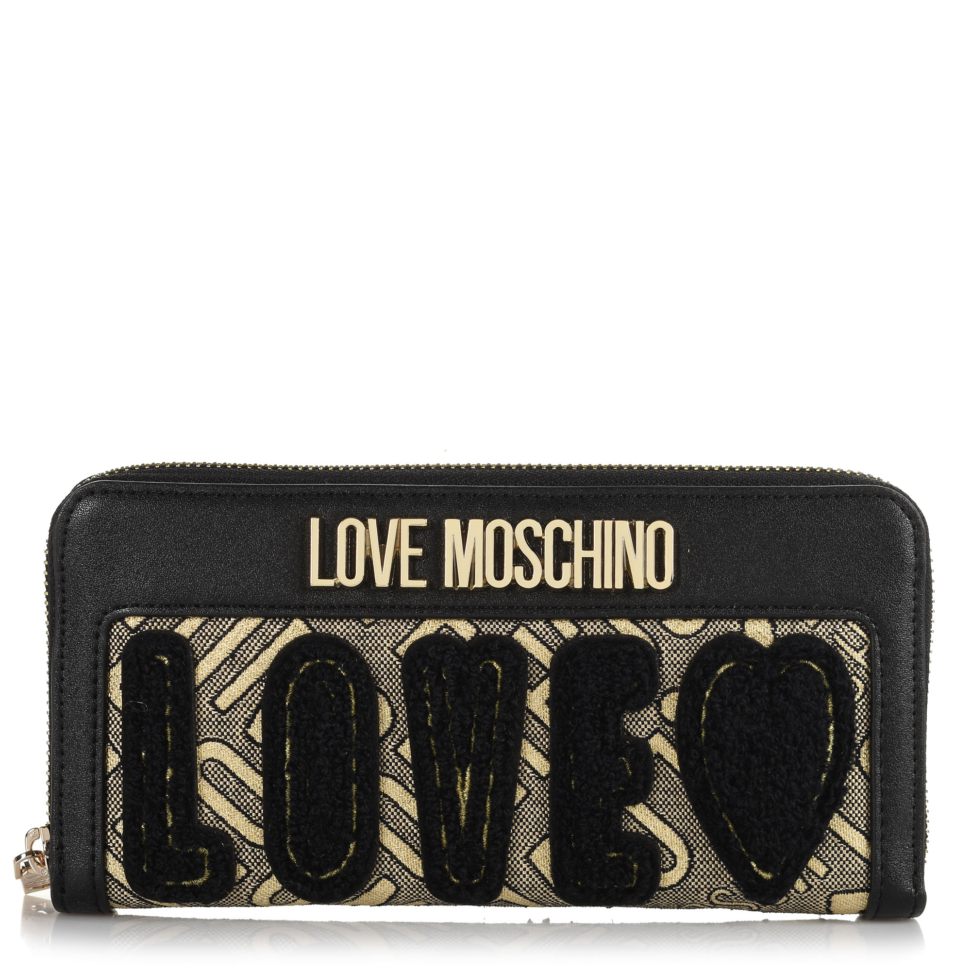 Πορτοφόλι Κασετίνα Love Moschino Jacquard Gold + Calf JC5604PP18LB