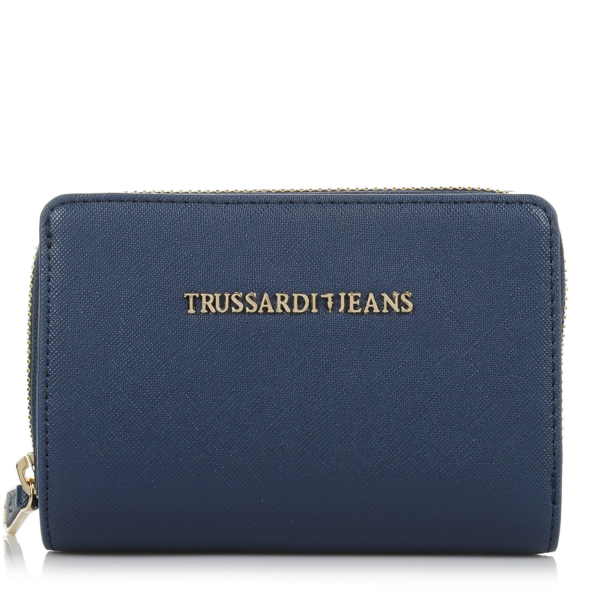 Πορτοφόλι Trussardi Jeans Levanto Ecosaffiano Wallet Medium Zip Around 75W00012