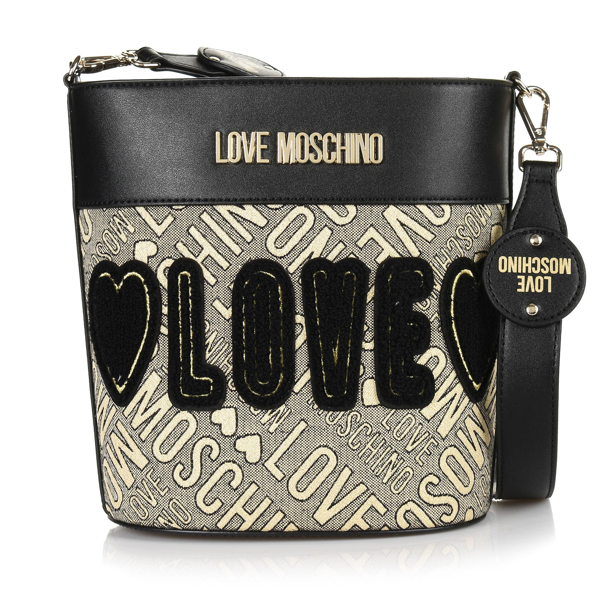 Πουγκί Love Moschino Jacquard Gold + Calf JC4020PP18LB