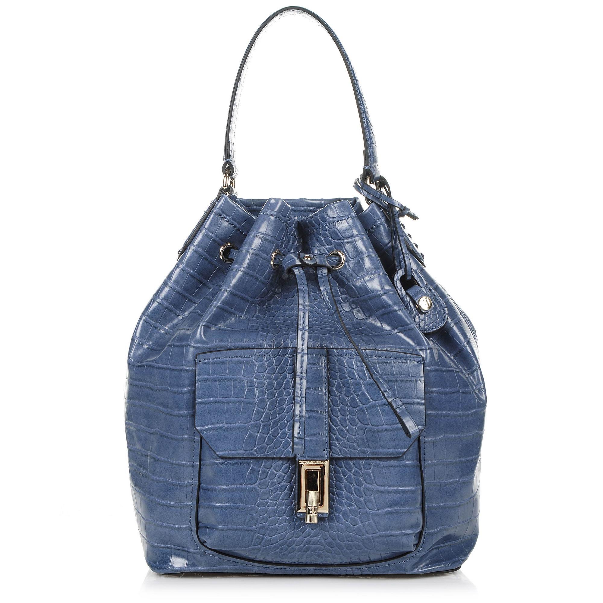 Πουγκί Trussardi Jeans Suzanne Ecoleather Cocco Printed Satchel Bag 75B00387