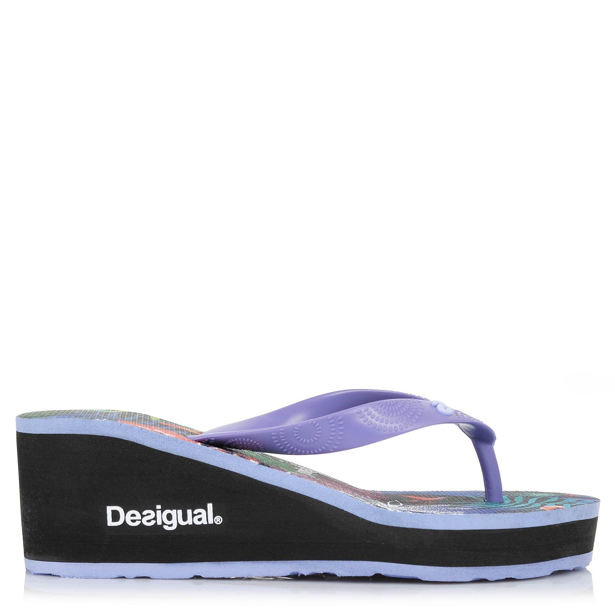 Σαγιονάρες Desigual Shoes Lola Tropical 18SSHF22 γυναικα   γυναικείο παπούτσι