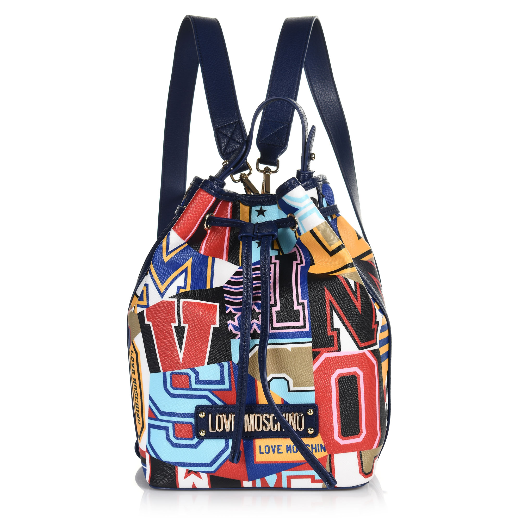 Σακίδιο Πλάτης Love Moschino Graphic Saffiano JC4050PP17LE