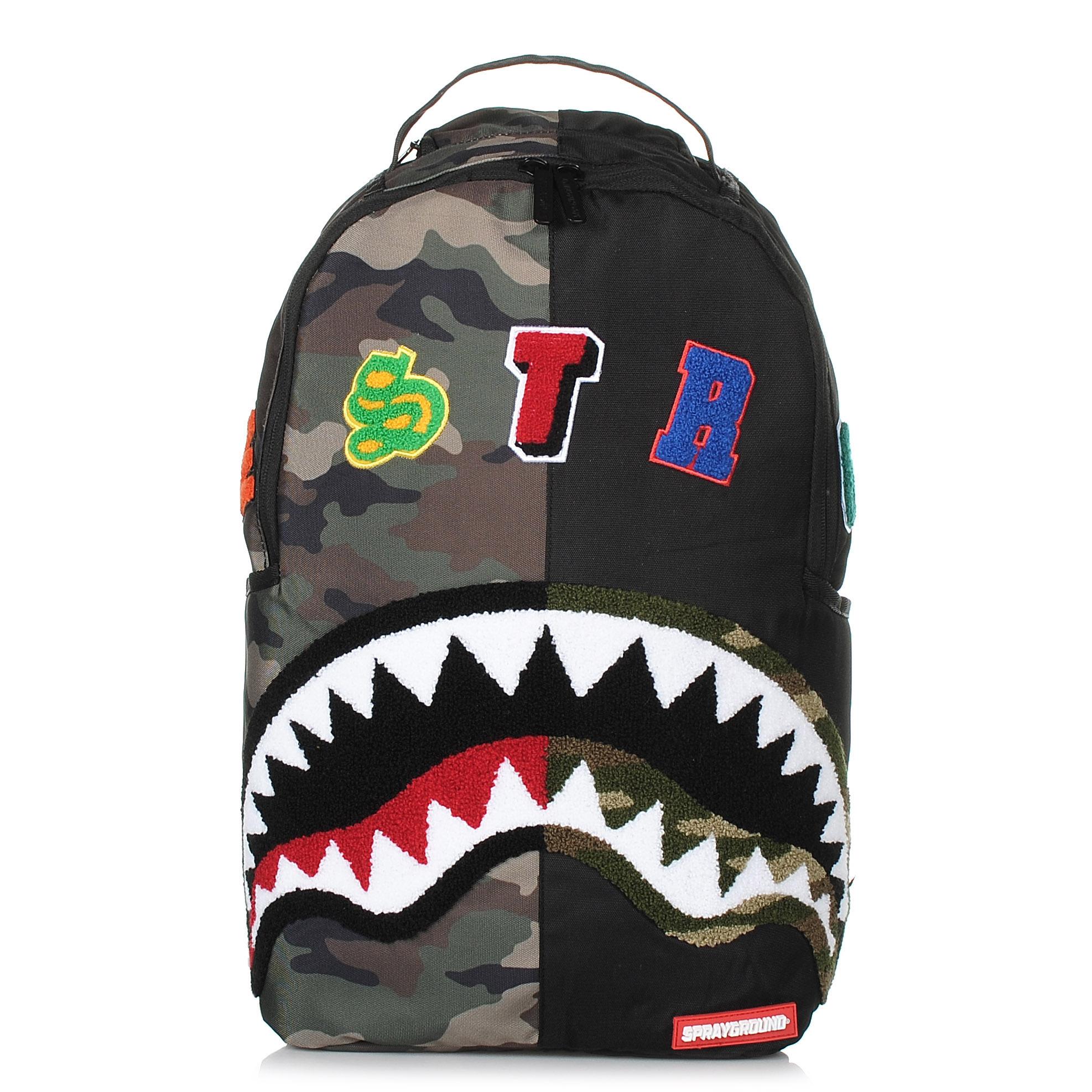 Σακίδιο Πλάτης Sprayground Camo Destroy Shark Backpack 910B1358NSZ ανδρας   σακίδιο πλάτης