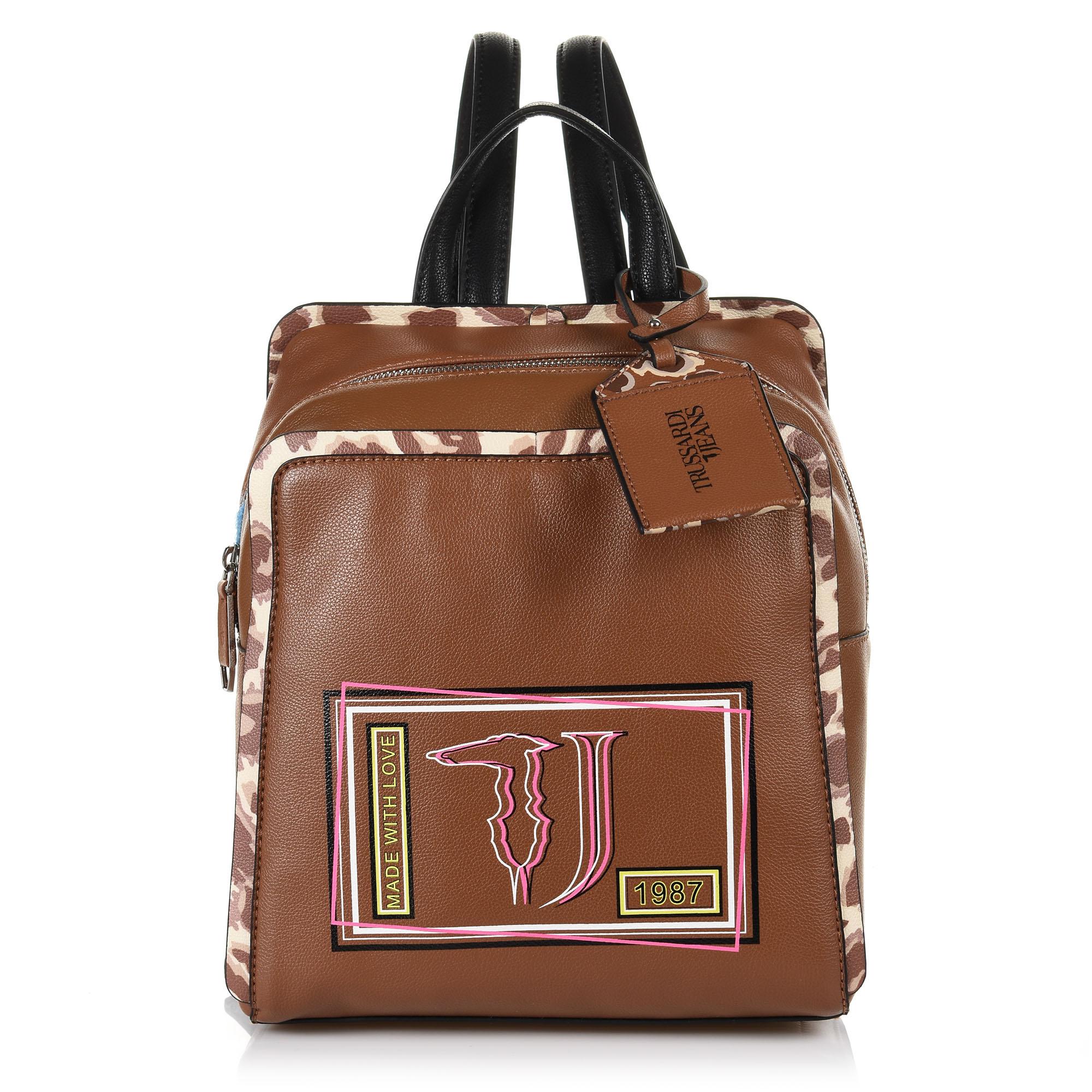 26dfee2cd7 Σακίδιο Πλάτης Trussardi Jeans Τ-Easy Light Backpack Md Saffiano ...