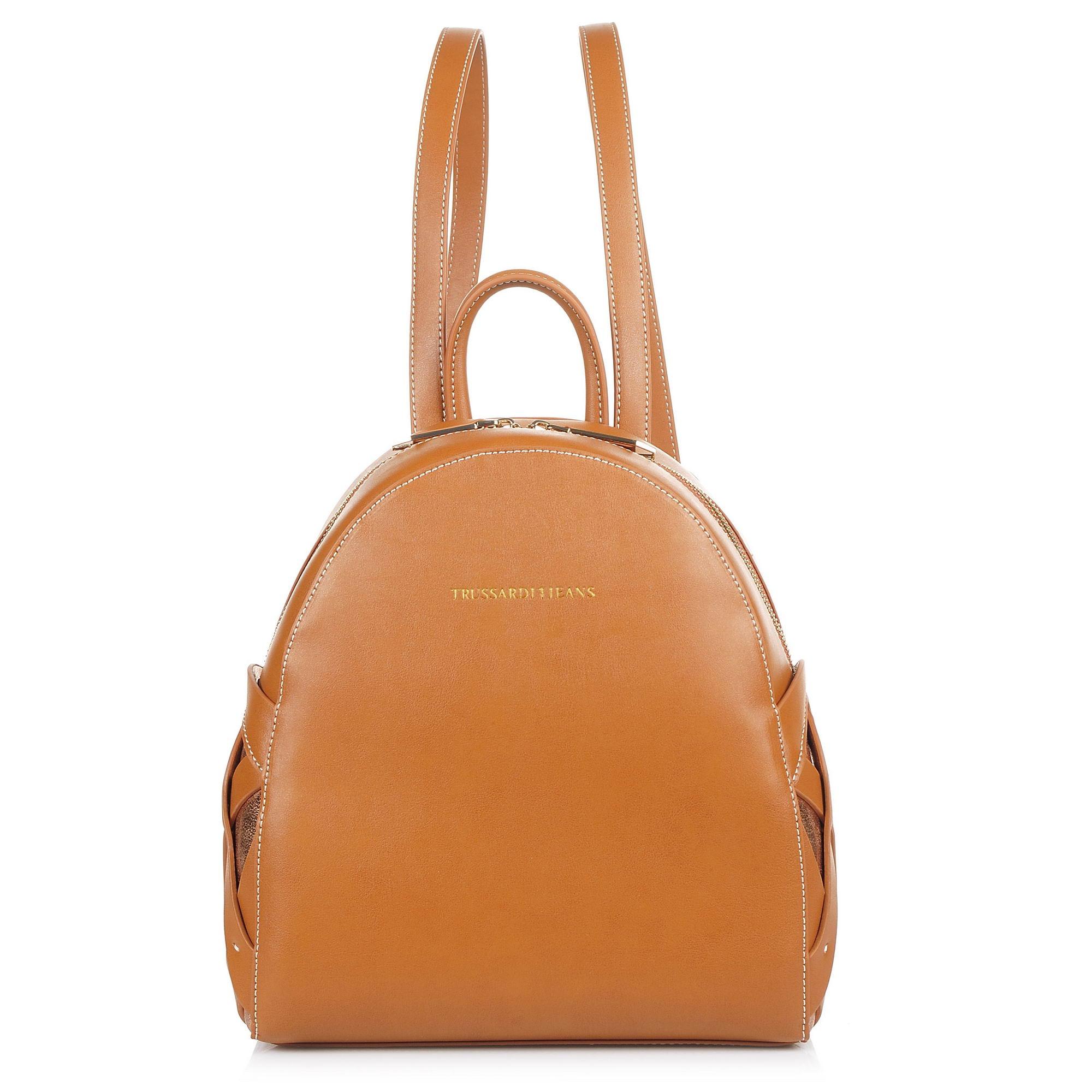 Σακίδιο Πλάτης Trussardi Jeans Dahlia Smooth Ecoleather/Printed Canvas Backpack 75B00345