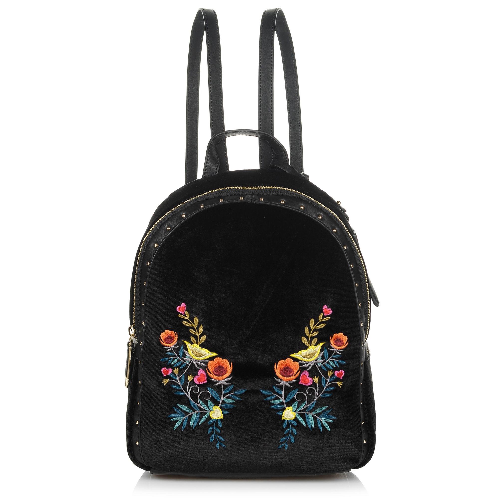 Σακίδιο Πλάτης Trussardi Jeans Portulaca Backpack Velvet/Embrpoidery 75B00539 γυναικα   γυναικεία τσάντα