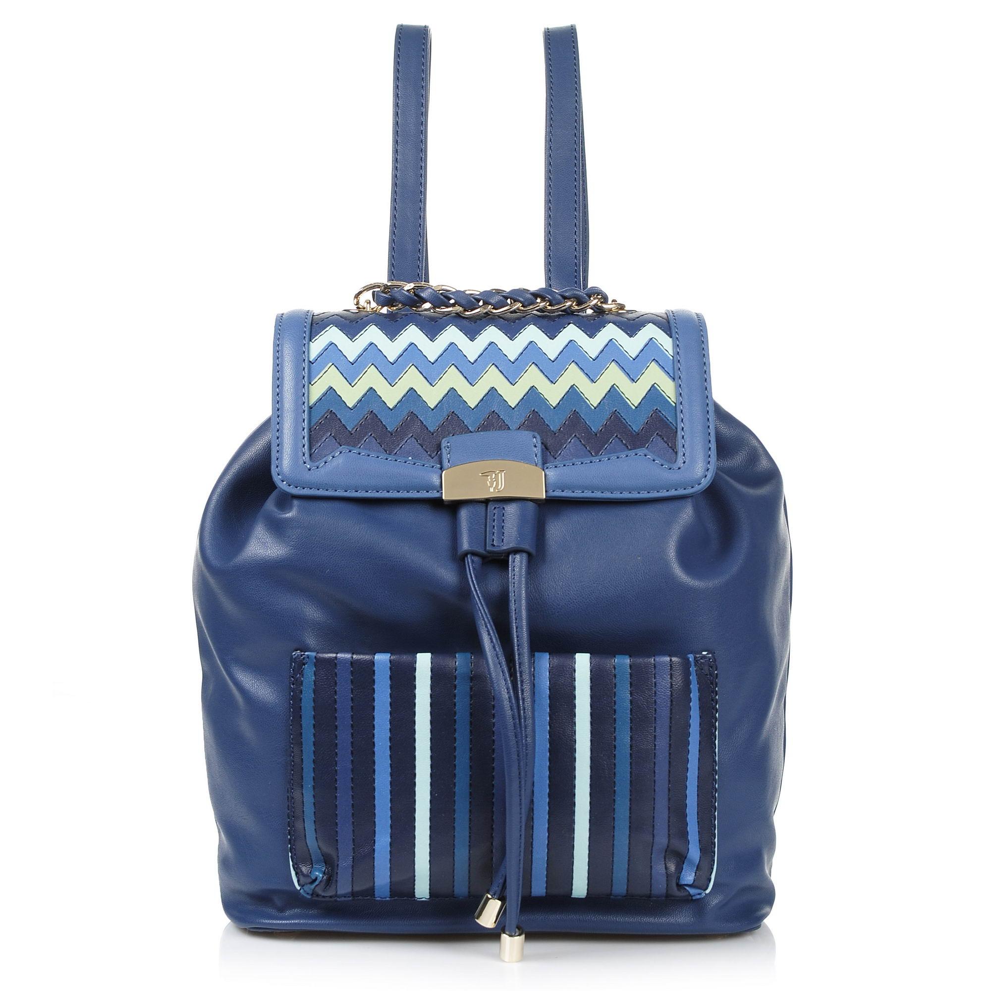 Σακίδιο Πλάτης Trussardi Jeans Saint Tropez Ecoleather Chevron Backpack 75B00204