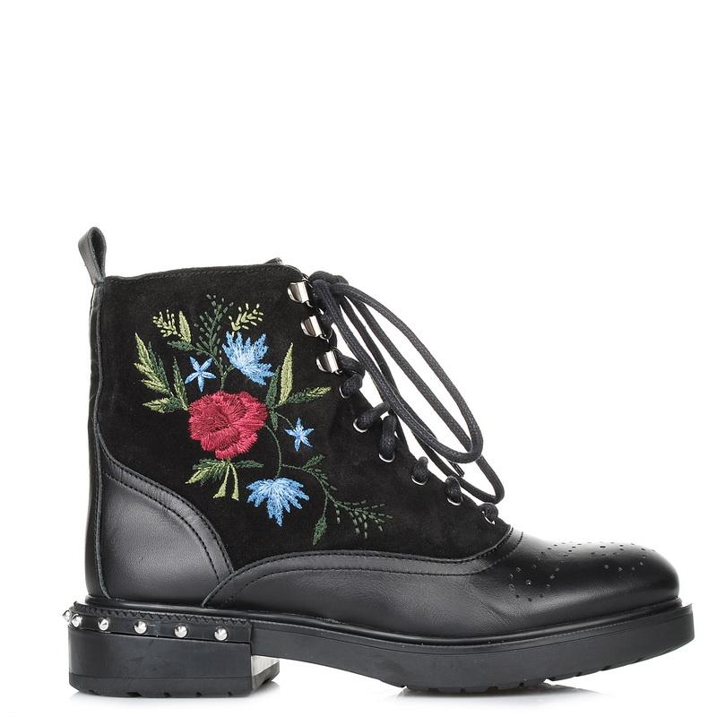 Suede Δερμάτινα Μποτάκια Kanna KI7633 γυναικα   γυναικείο παπούτσι