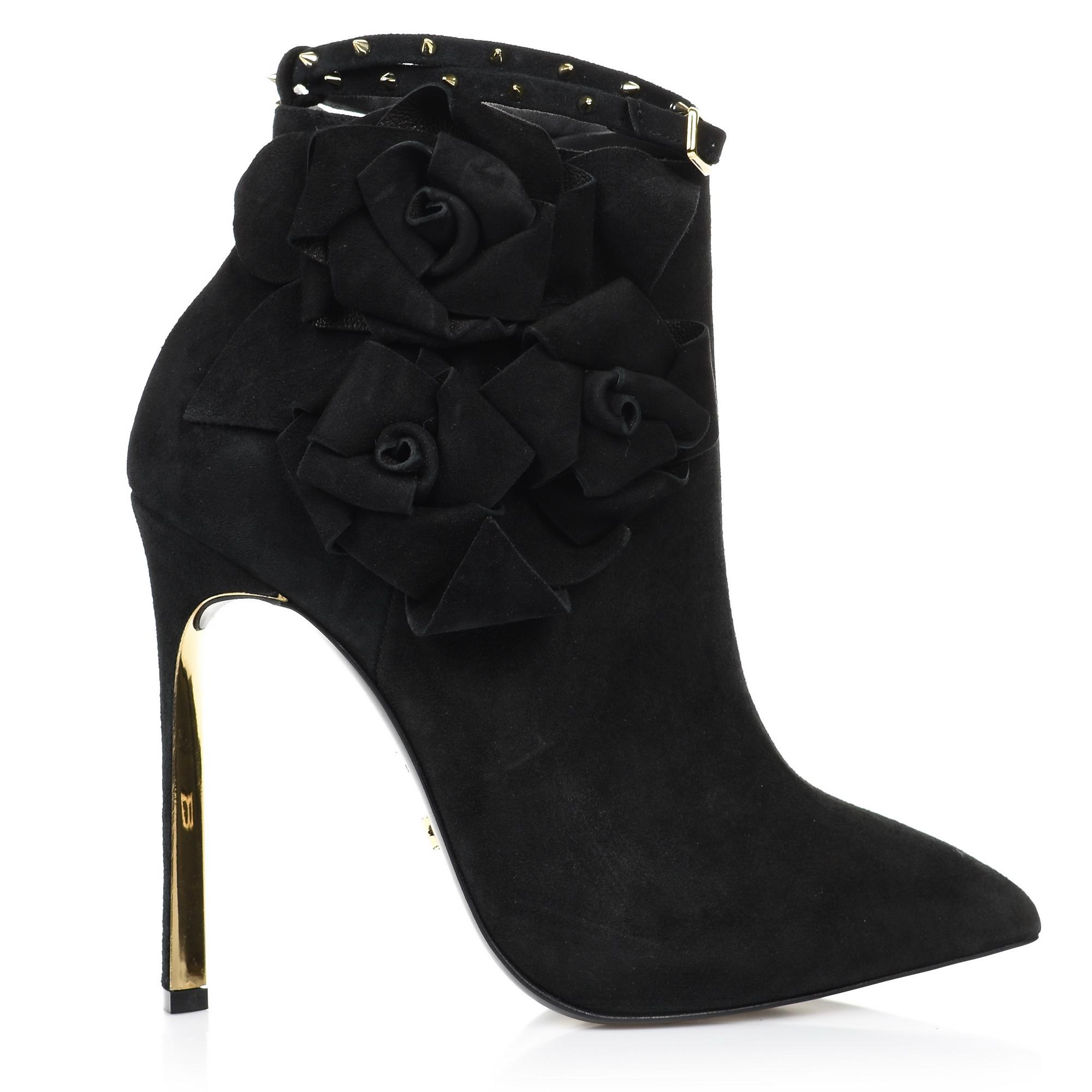 Suede Δερμάτινες Γόβες Dukas Twist Booties Roses 5.DTBR γυναικα   γυναικείο παπούτσι