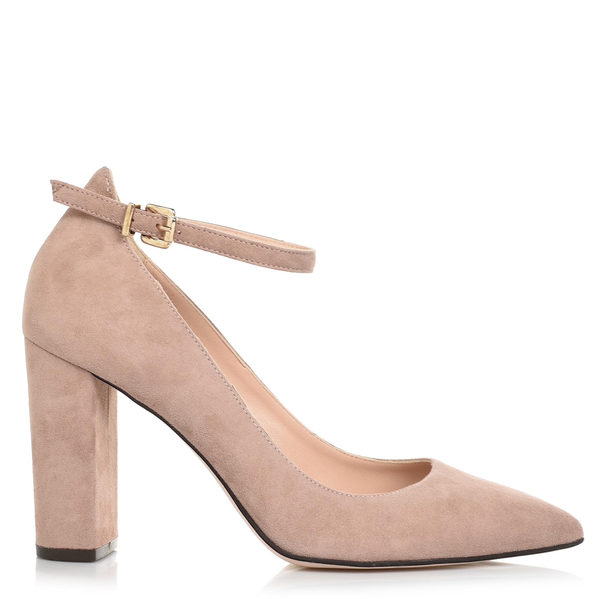 Suede Δερμάτινες Γόβες με Μπαρέτα Μourtzi 053K11 γυναικα   γυναικείο παπούτσι