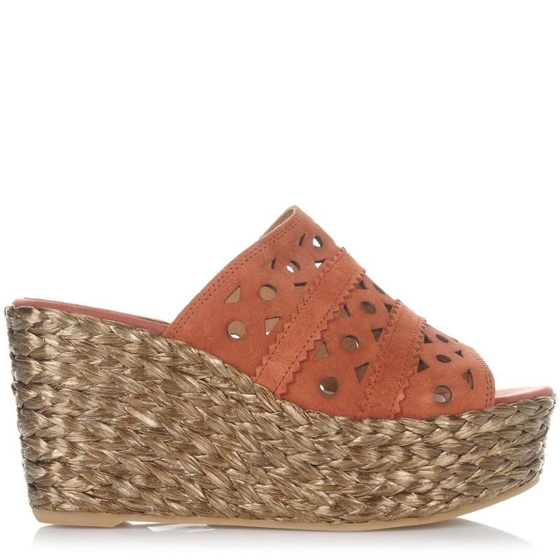 Suede Δερμάτινες Πλατφόρμες Mules Kanna KV7188 γυναικα   γυναικείο παπούτσι