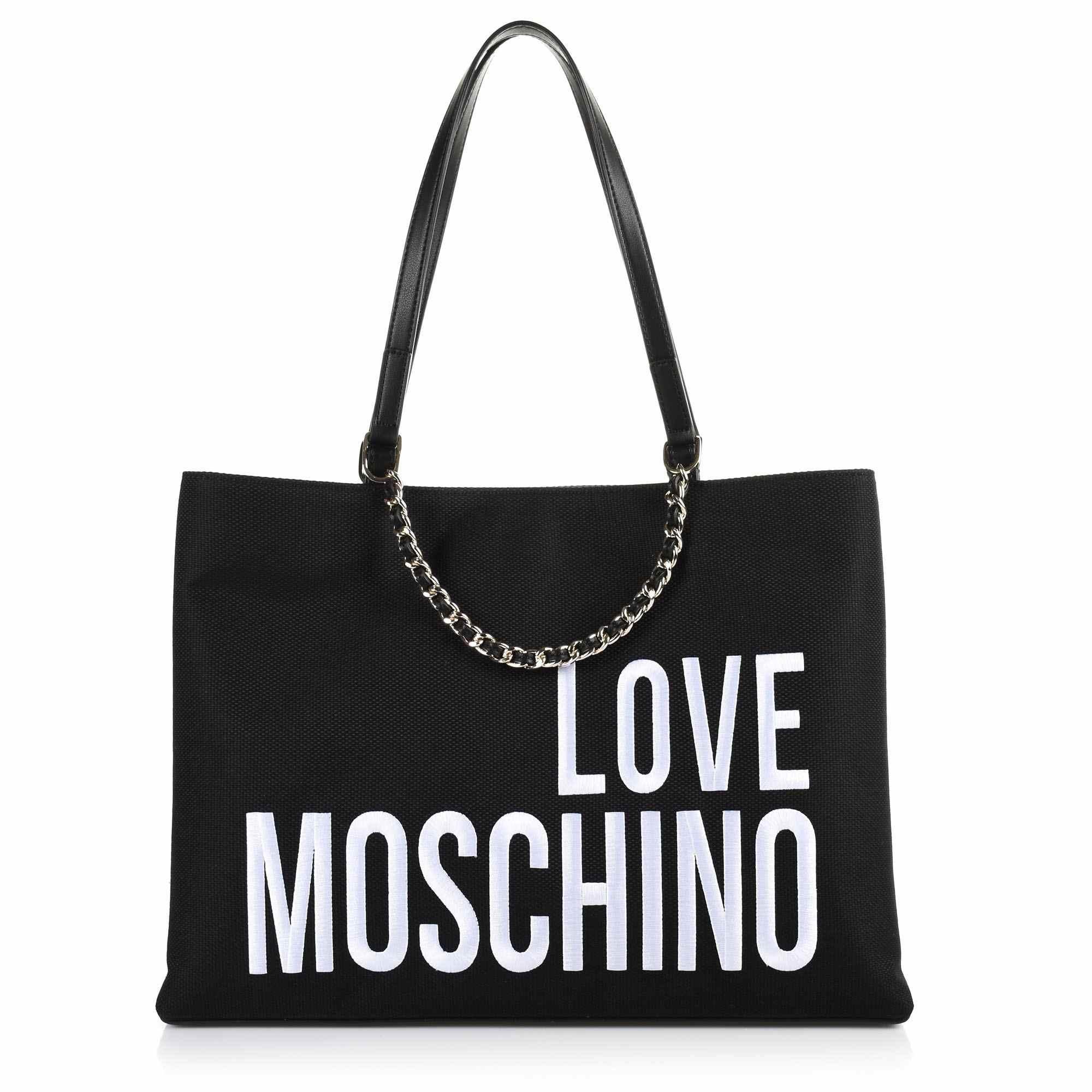 Τote Τσάντα Love Moschino Canvas JC4112PP17LO