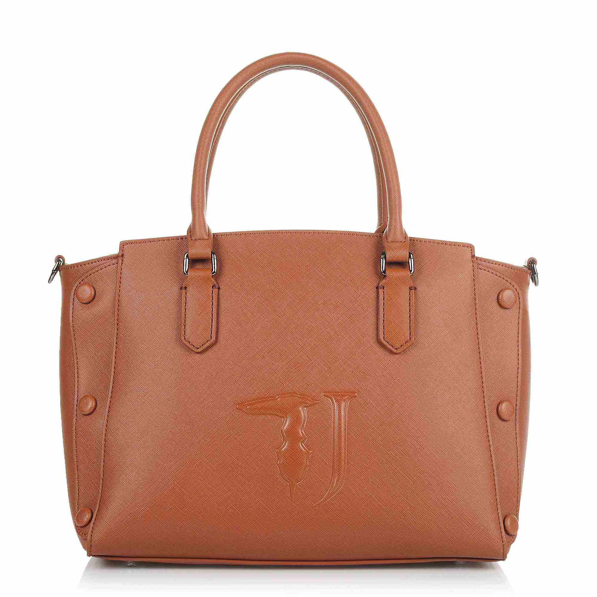 Tote Τσάντα Ώμου-Χιαστί Trussardi Jeans Melissa Tote Medium Bag Ecoleather Covered Studs 75B00454