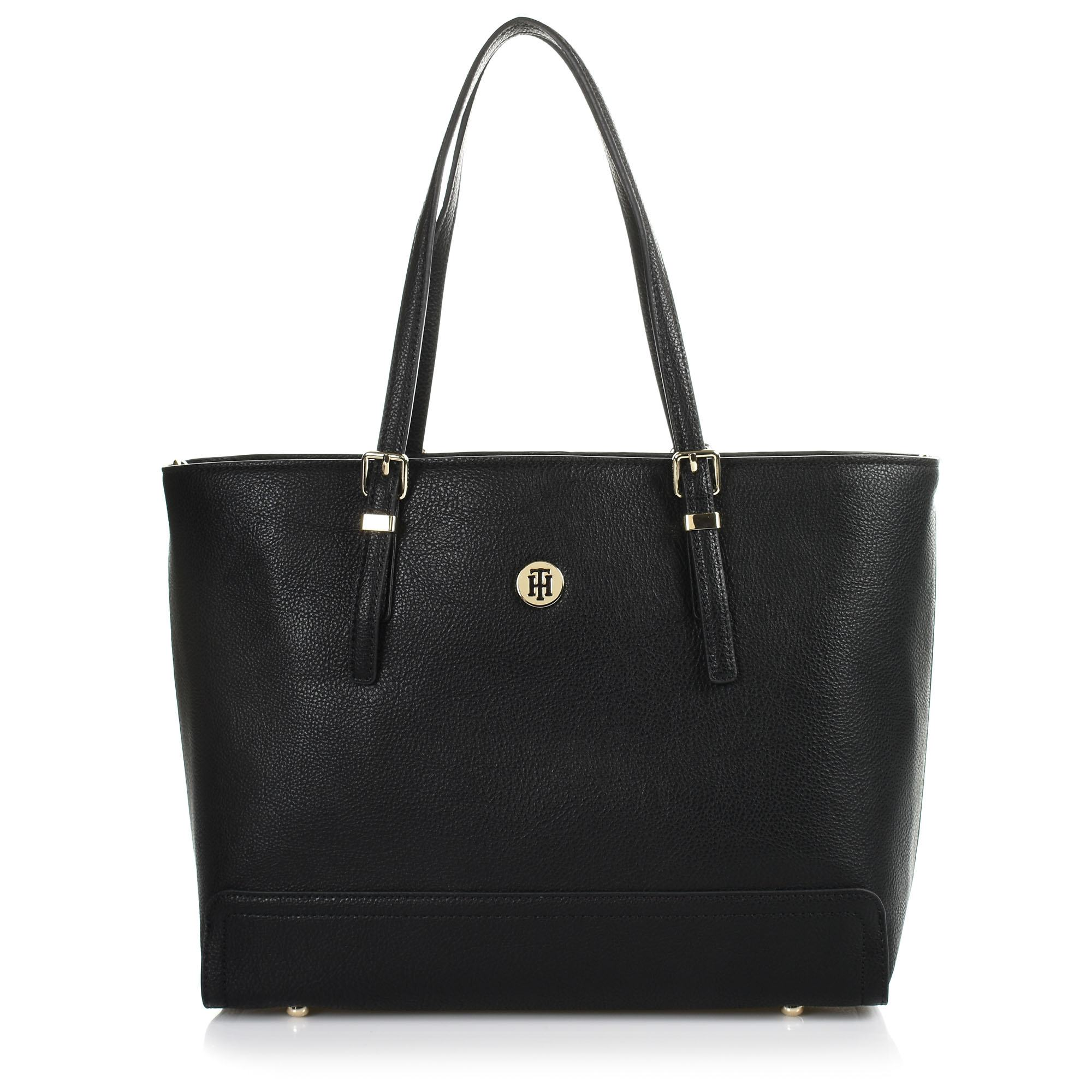 Tote Τσάντα Tommy Hilfiger Honey Finegrain Med Tote AW0AW06632